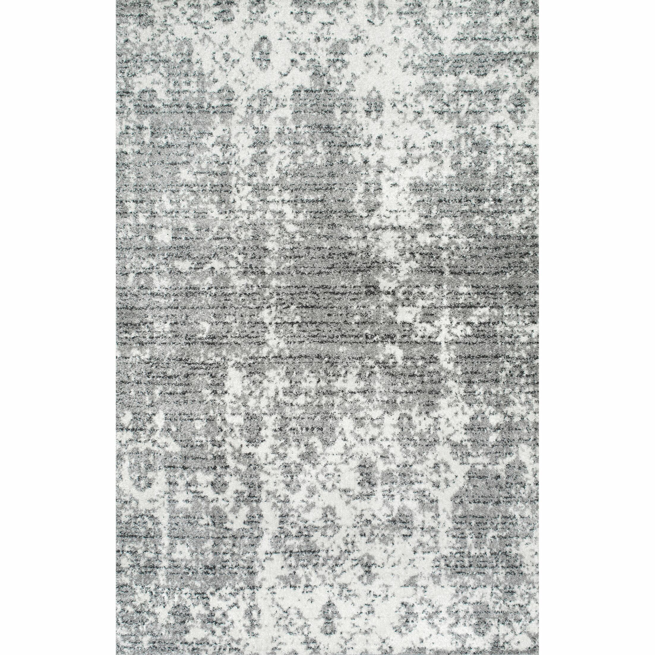 Bloom Gray Area Rug Rug Size: Rectangle 10' x 14'