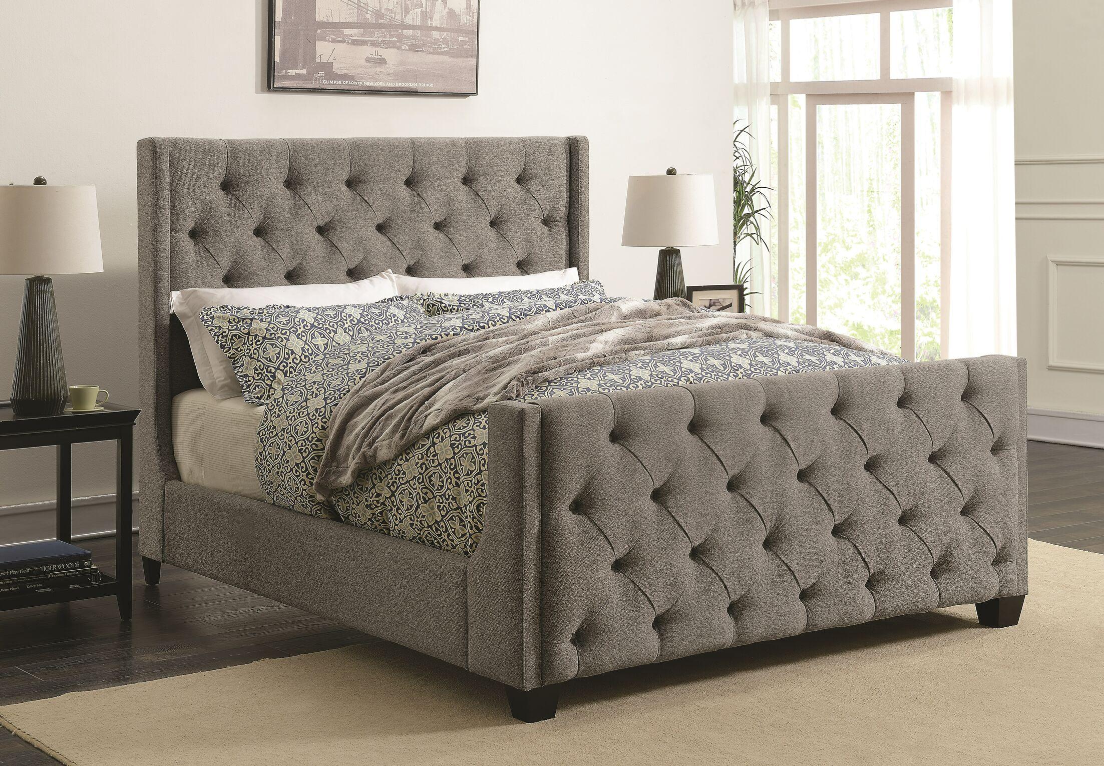 Lattin Coaster Upholstered Panel Bed Size: Canifonia King