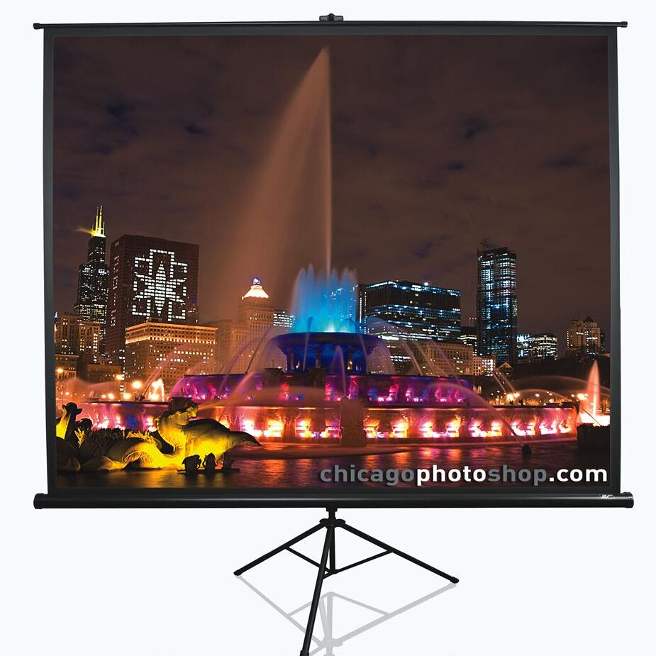 Tripod Series White Portable Projection Screen Viewing Area: 136