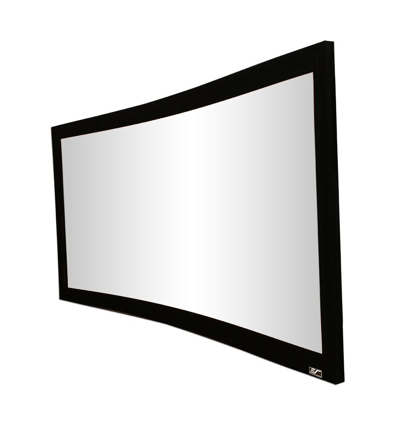Lunette Series White Fixed Frame Projection Screen Viewing Area: 92