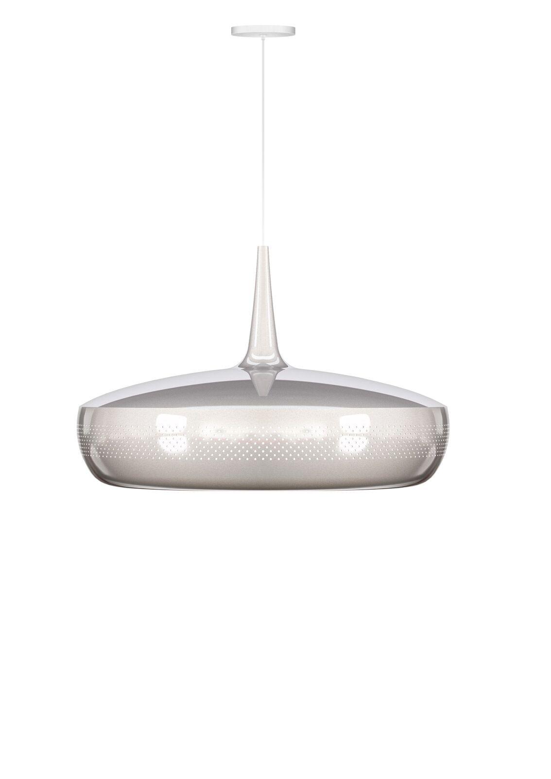 1-Light Hardwired Pendant Finish: Polished Steel, Cord/Cable Finish: White