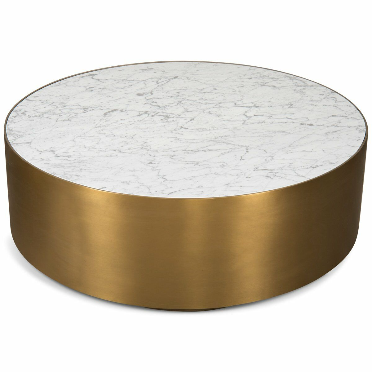 Ibiza Coffee Table Table Base Color: Brushed Brass