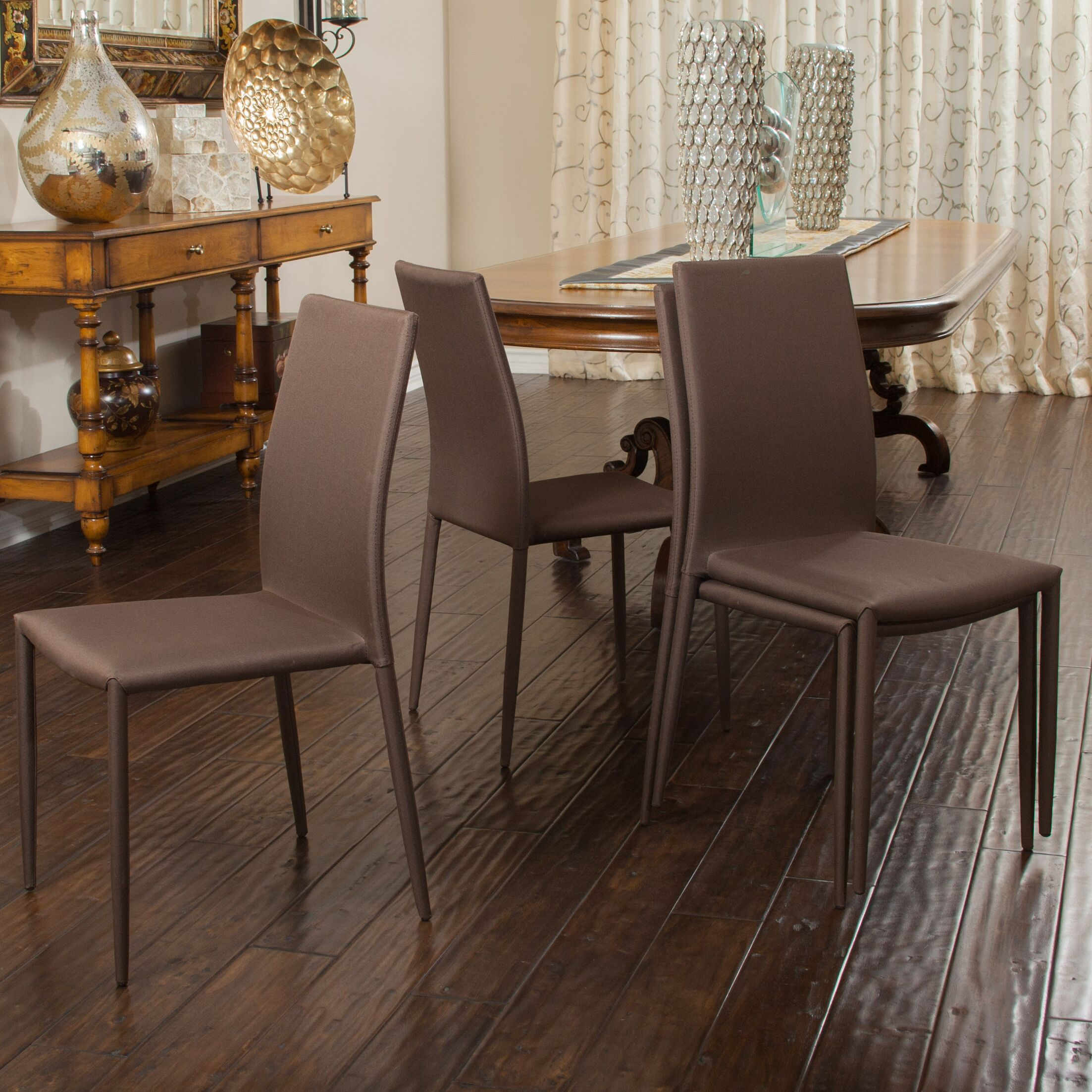 Williams Side Chair Upholstery Color: Brown