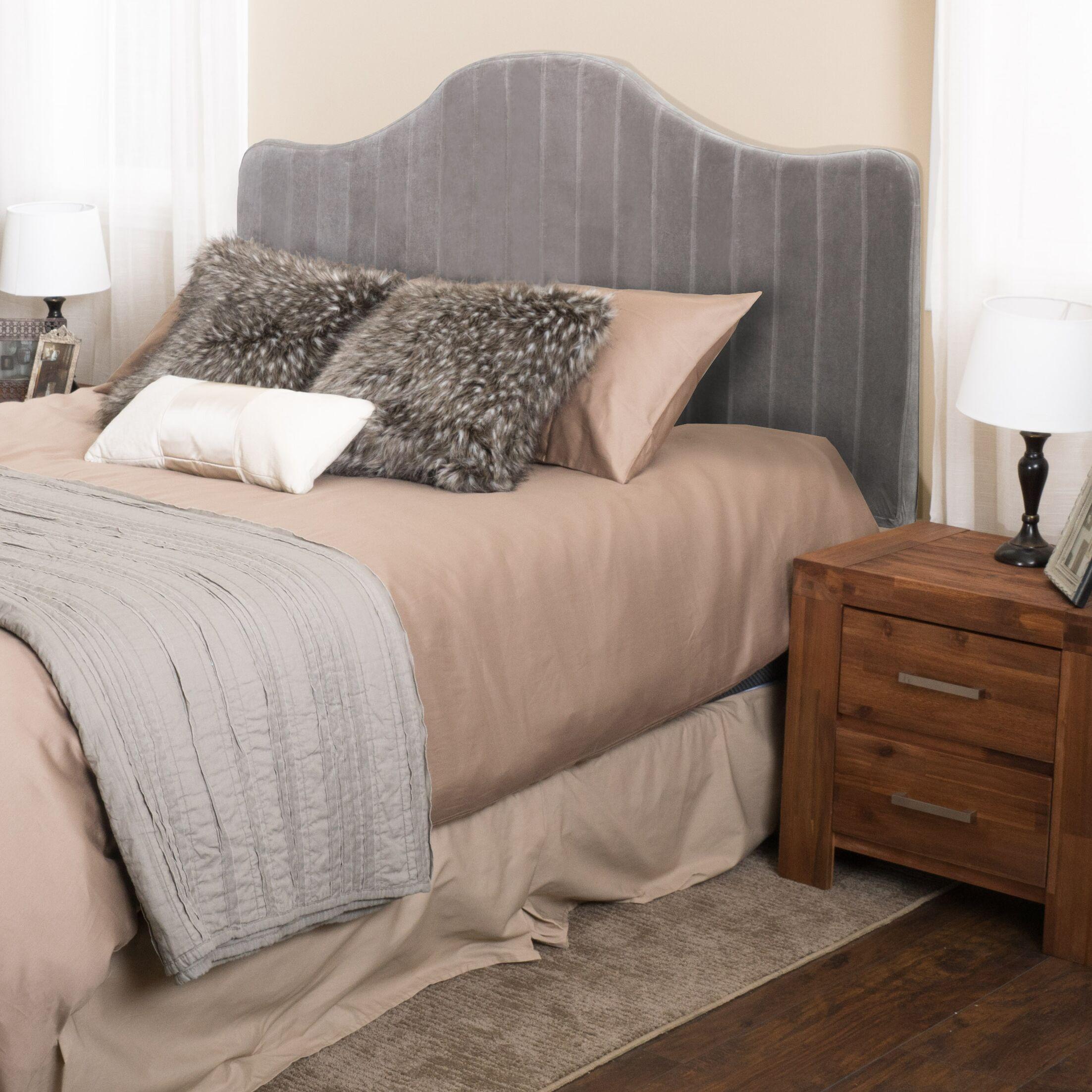 Ashland King Upholstered Panel Headboard Upholstery: Grey