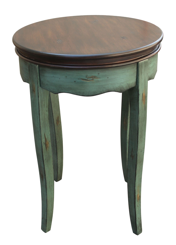 Nixa End Table Color: Antique Blue / Brown