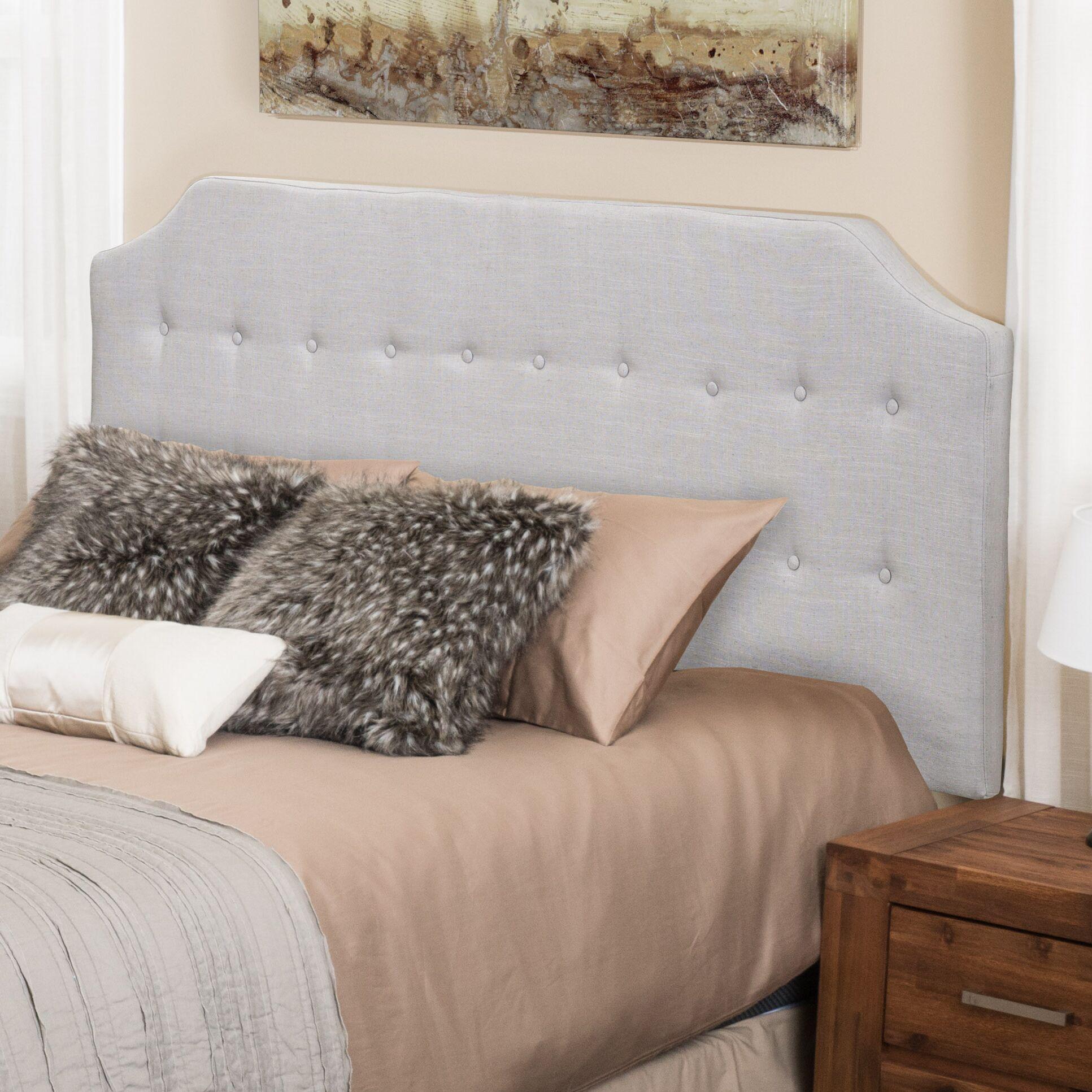 Lynnwood Upholstered Panel Headboard Upholstery: Light Gray