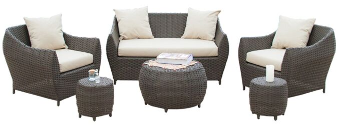 Beaufort 6 Piece Sofa Set with Cushions