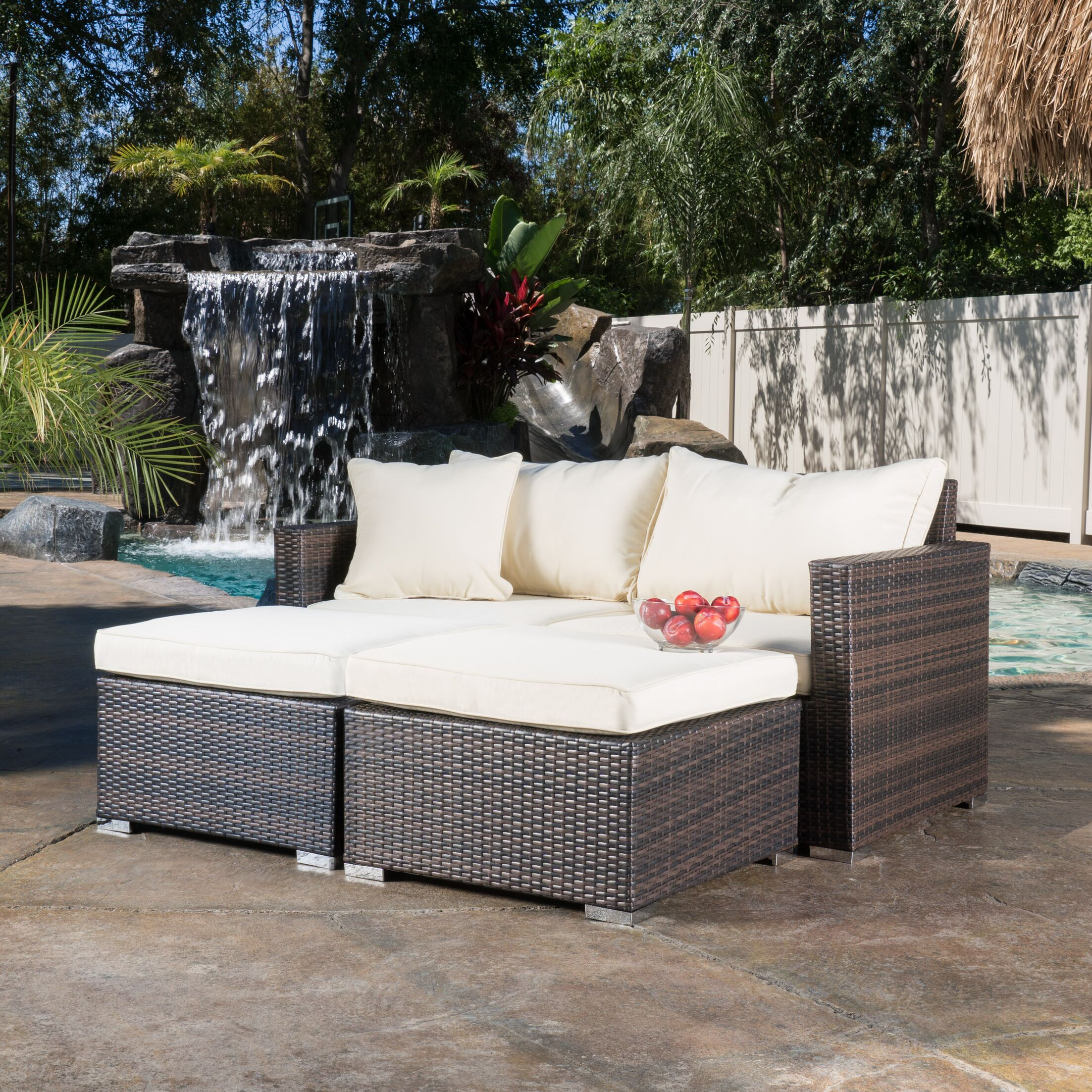 Pinecrest 2 Piece Chaise Lounge Set with Cushion
