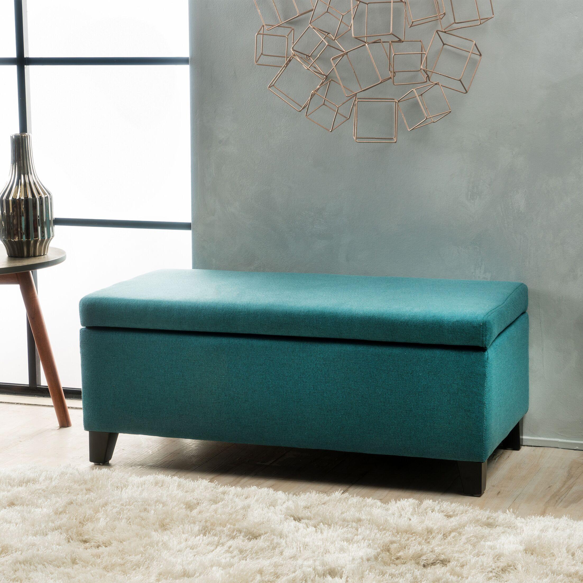 Vannatta Storage Ottoman Upholstery: Dark Teal