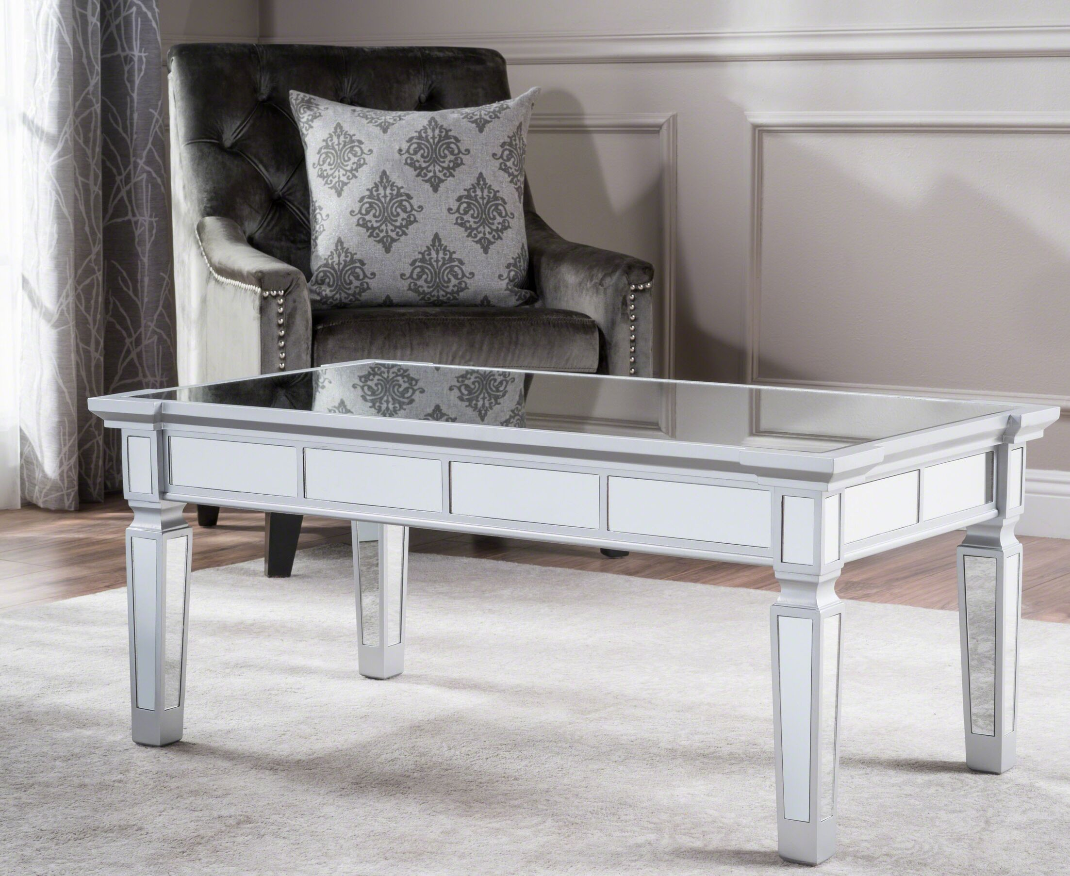 Walsall Mirrored Coffee Table