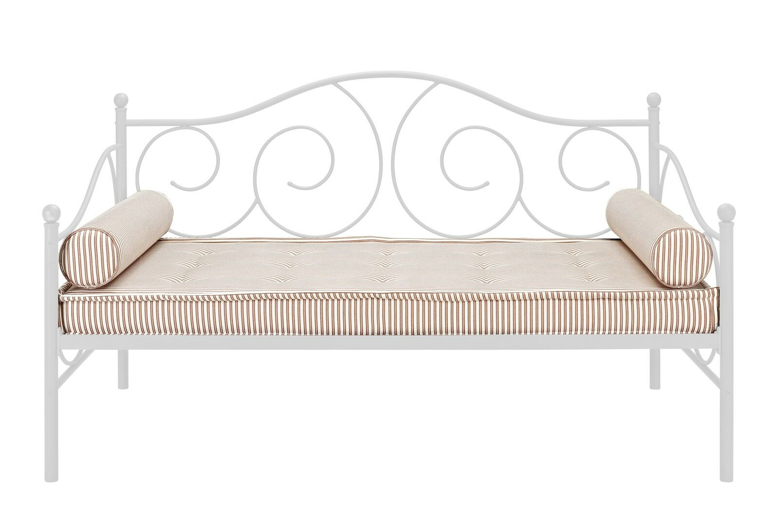Yolanda Metal Scroll Daybed Color: White, Size: Full