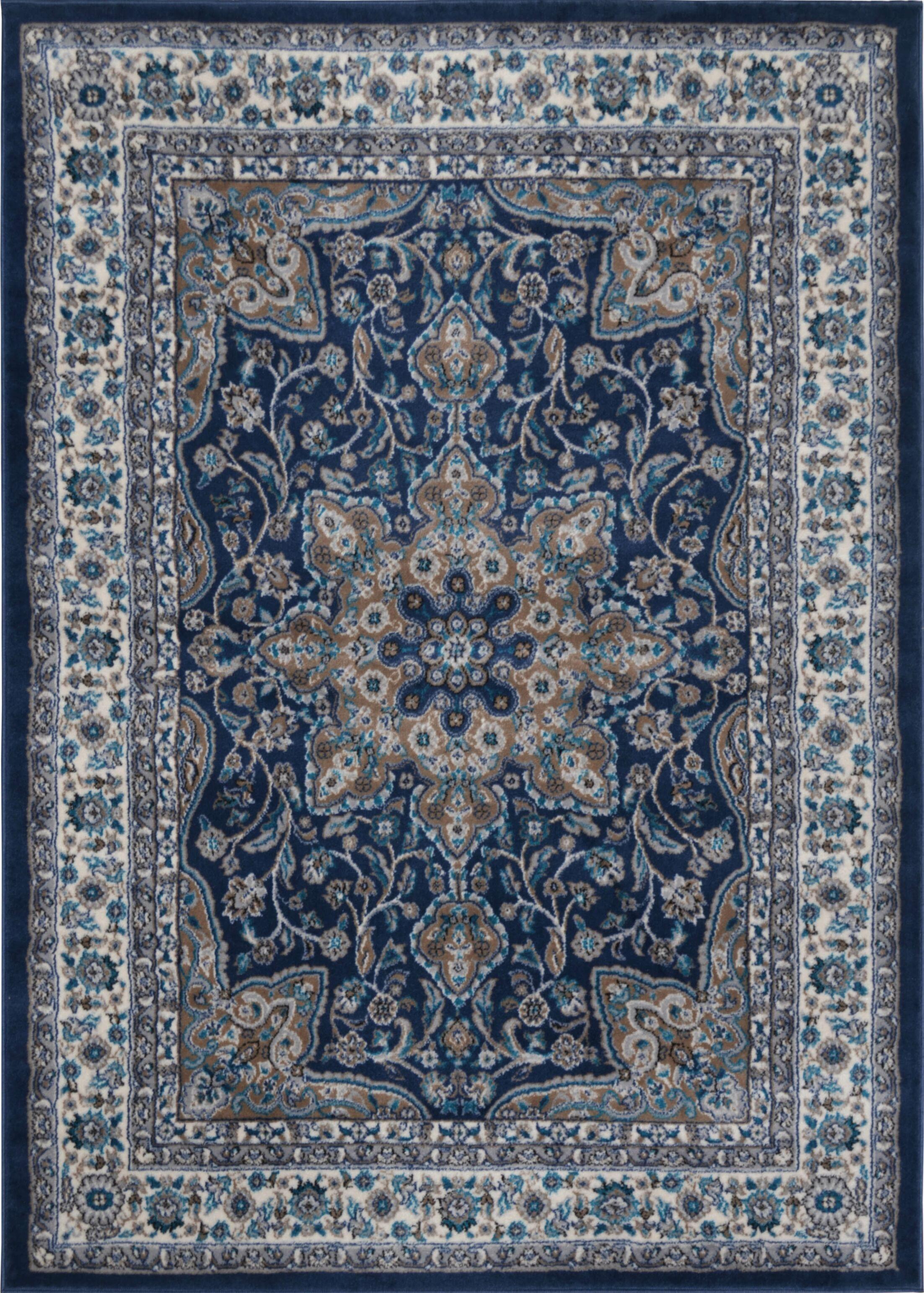 Tremont Blue Area Rug Rug Size: 6'6