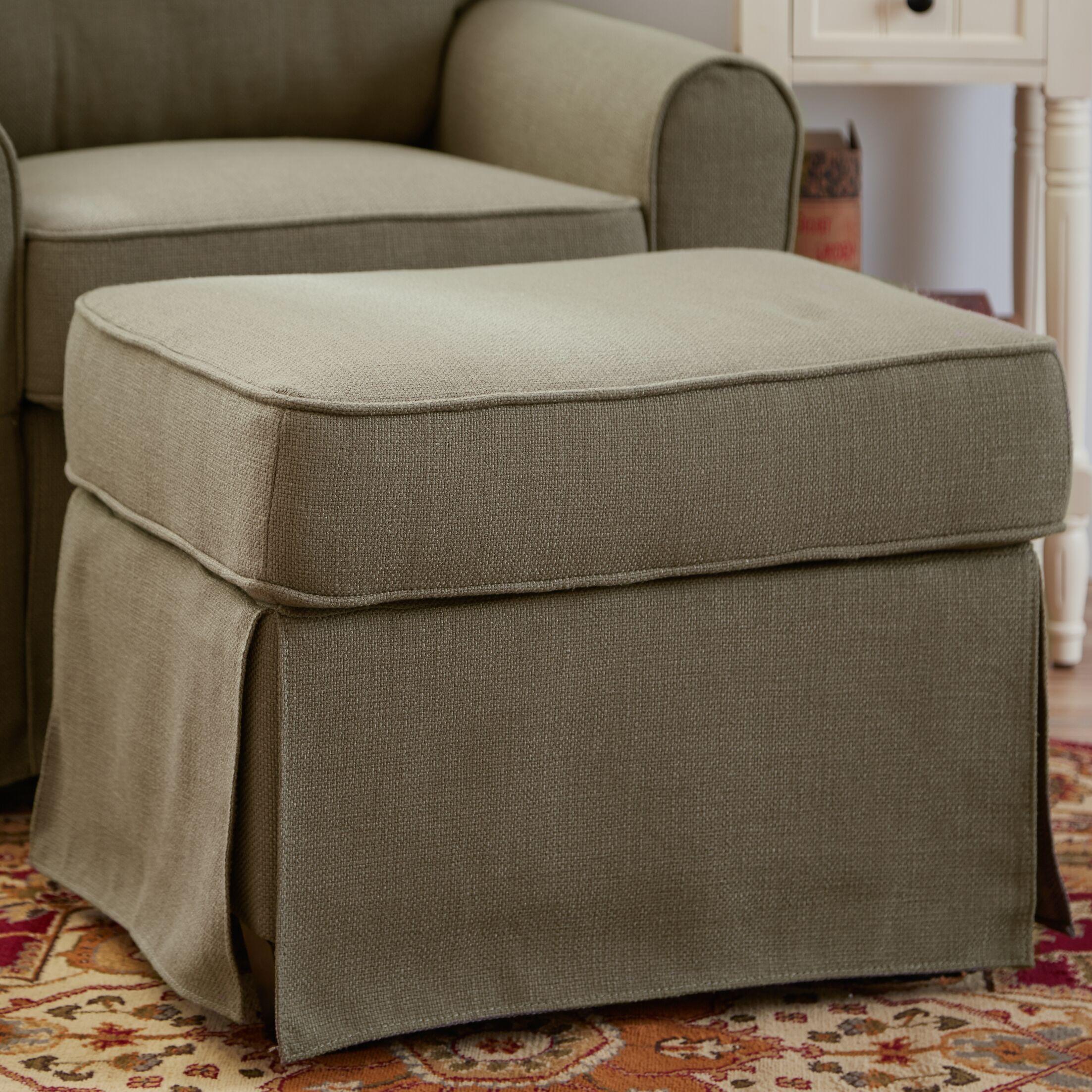 Smith Ottoman Upholstery: Greenwich Laurel