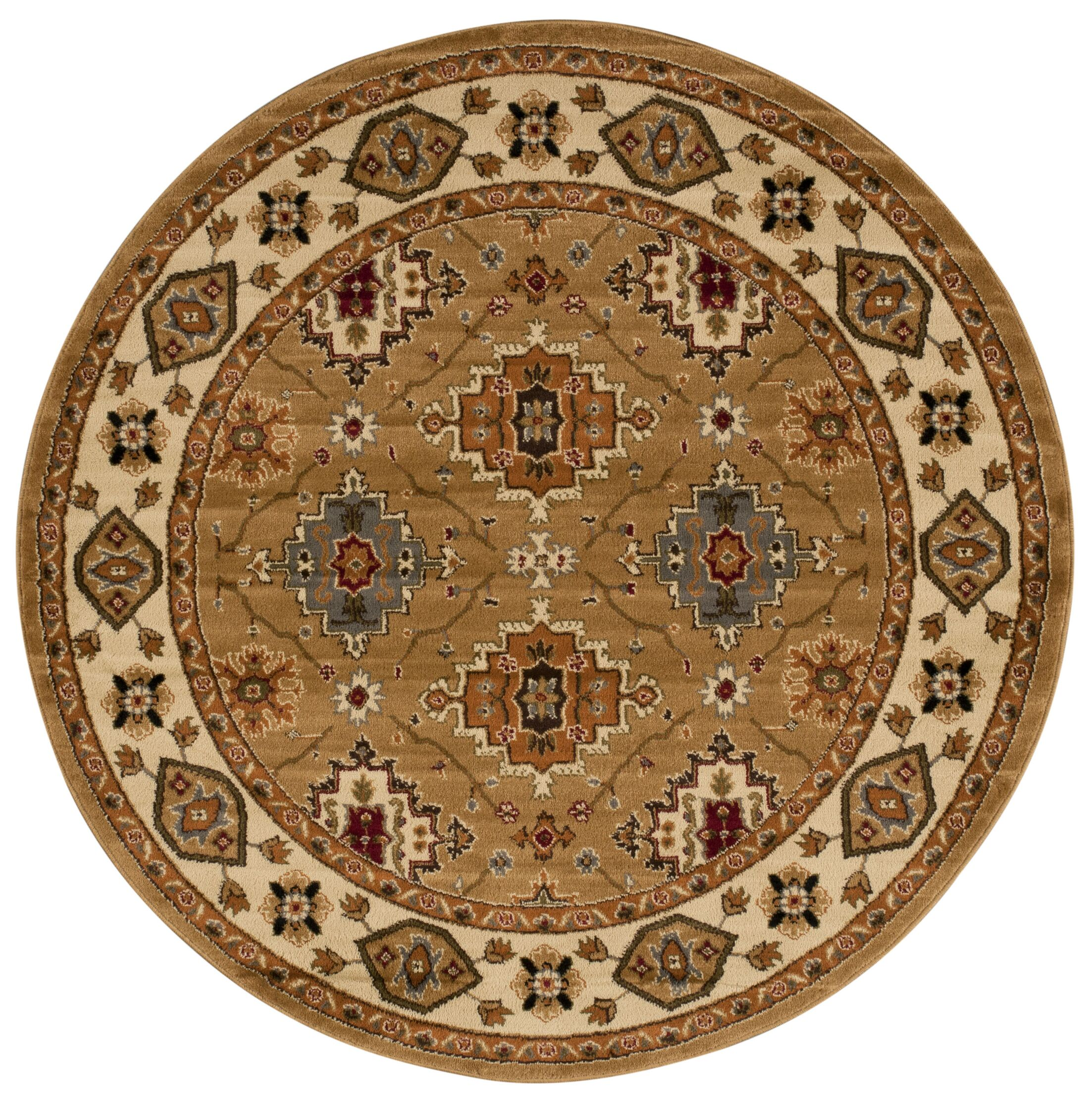 Seymour Gold Area Rug Rug Size: Round 5'3