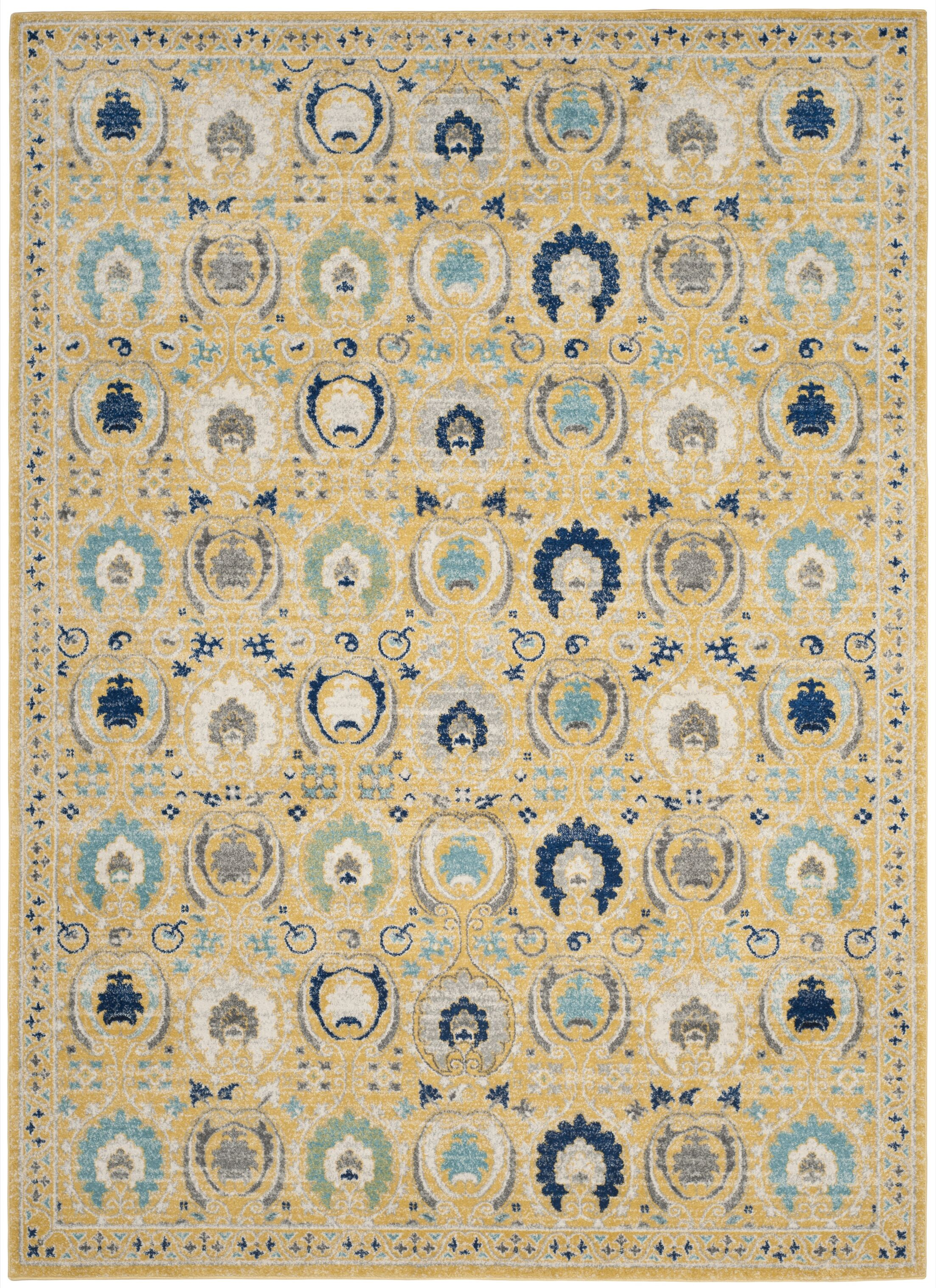 Aegean Gold / Ivory Area Rug Rug Size: Rectangle 10' x 14'