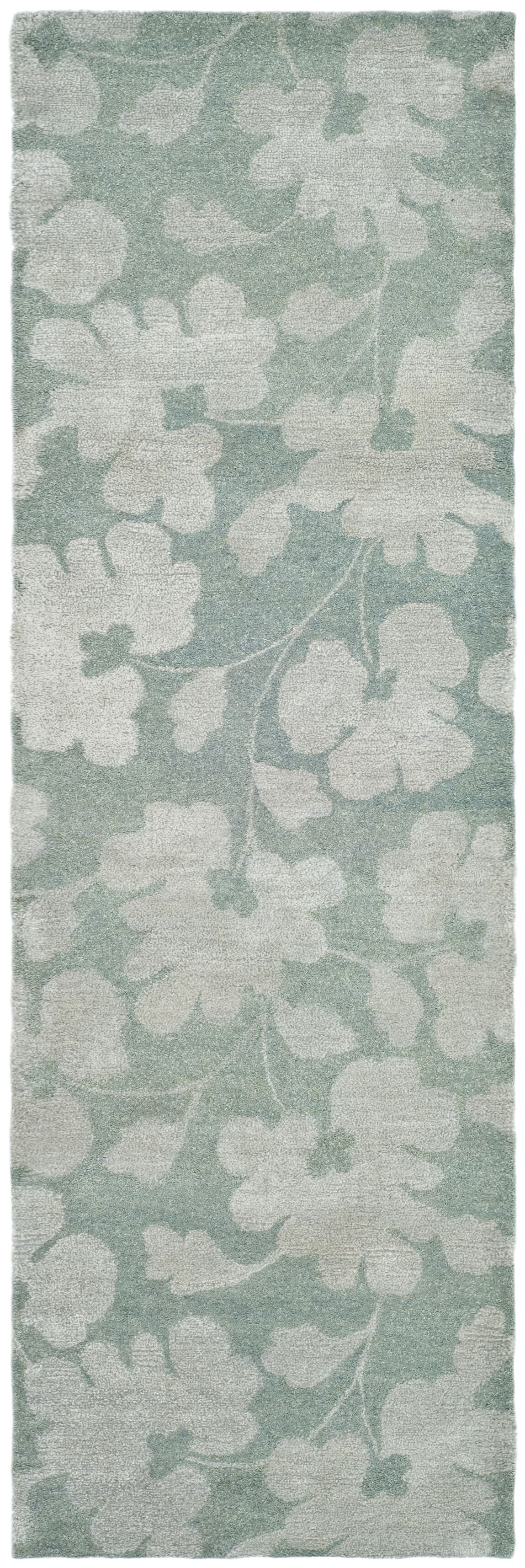Armstrong Hand-Tufted Light Blue / Silver Area Rug Rug Size: Runner 2'6