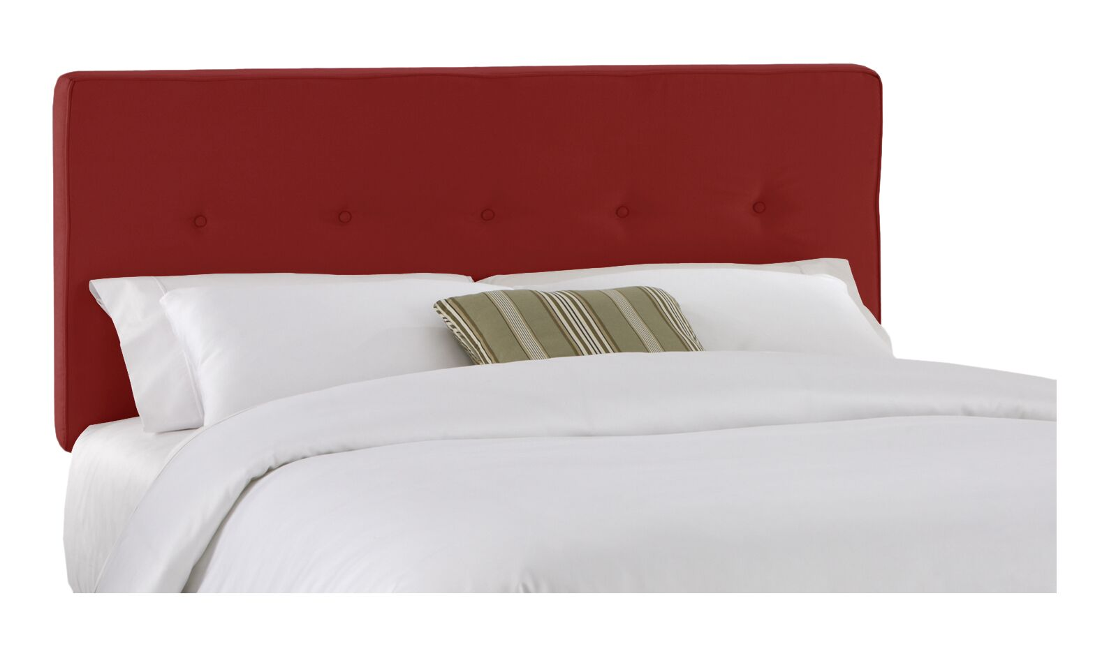 Morton Upholstered Panel Headboard Size: Twin, Color: Red