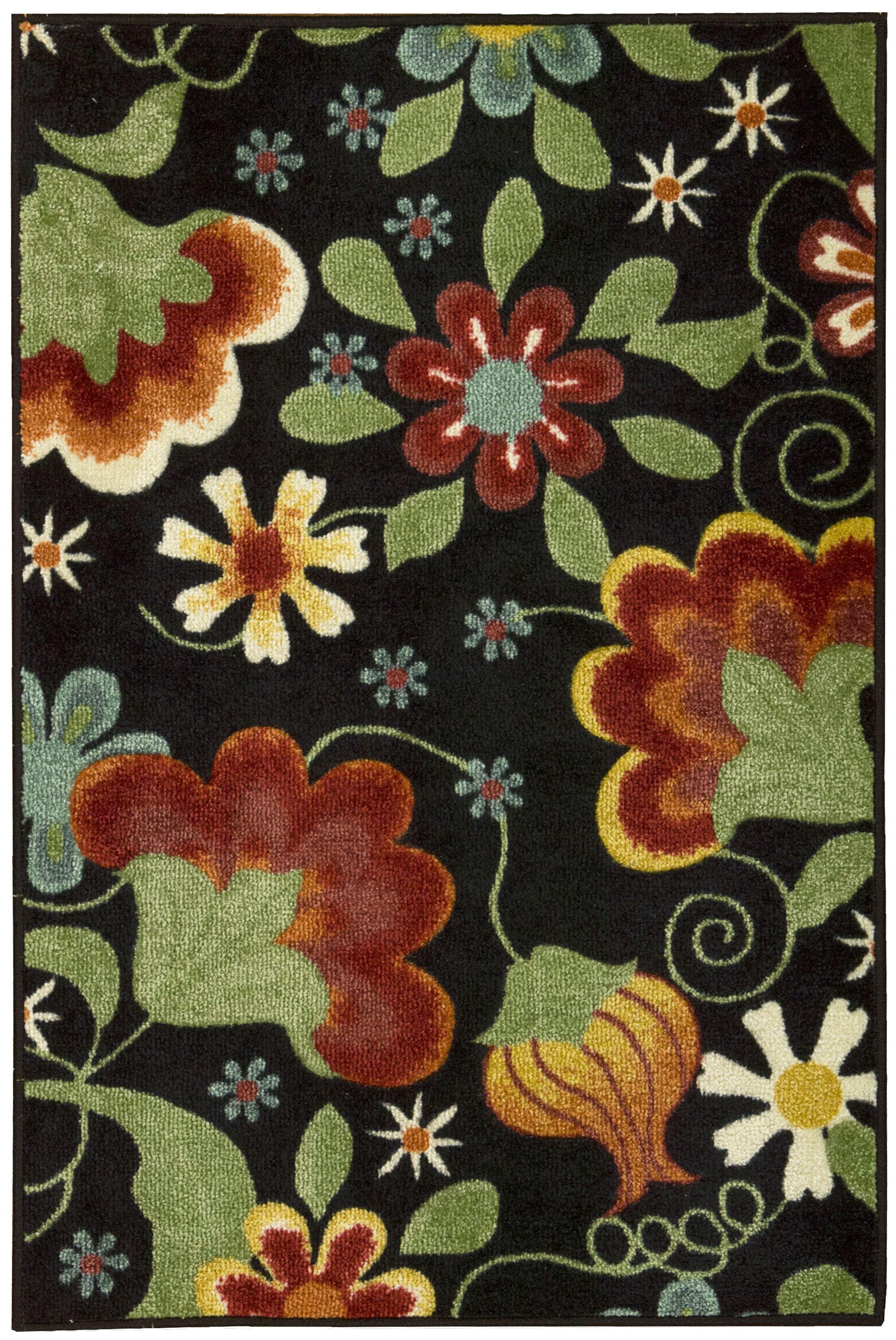 Greenmeadow Wool Black/Green Area Rug Rug Size: Rectangle 5'10