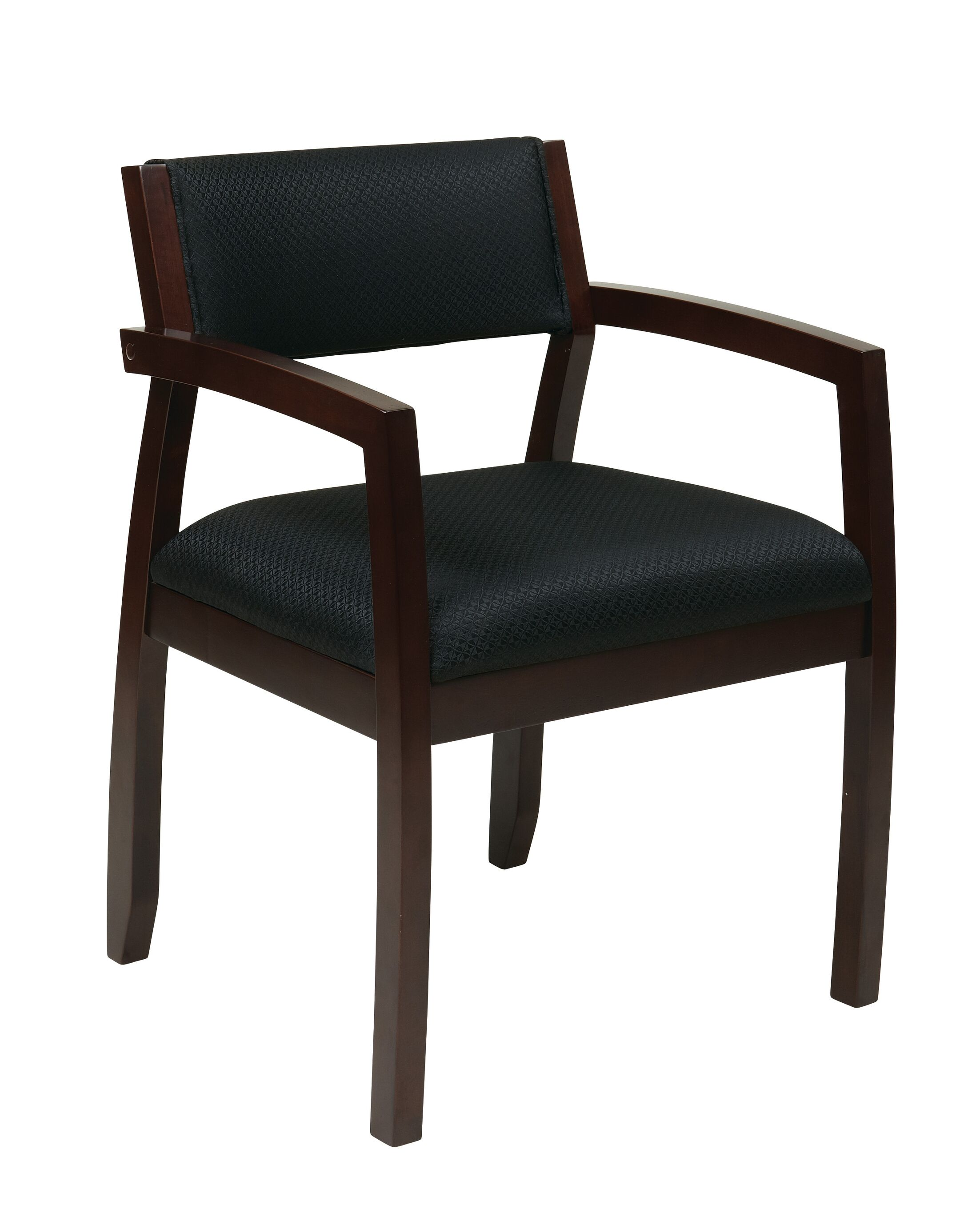 Roxanne Upholstered Back Guest Chair Finish: Espresso