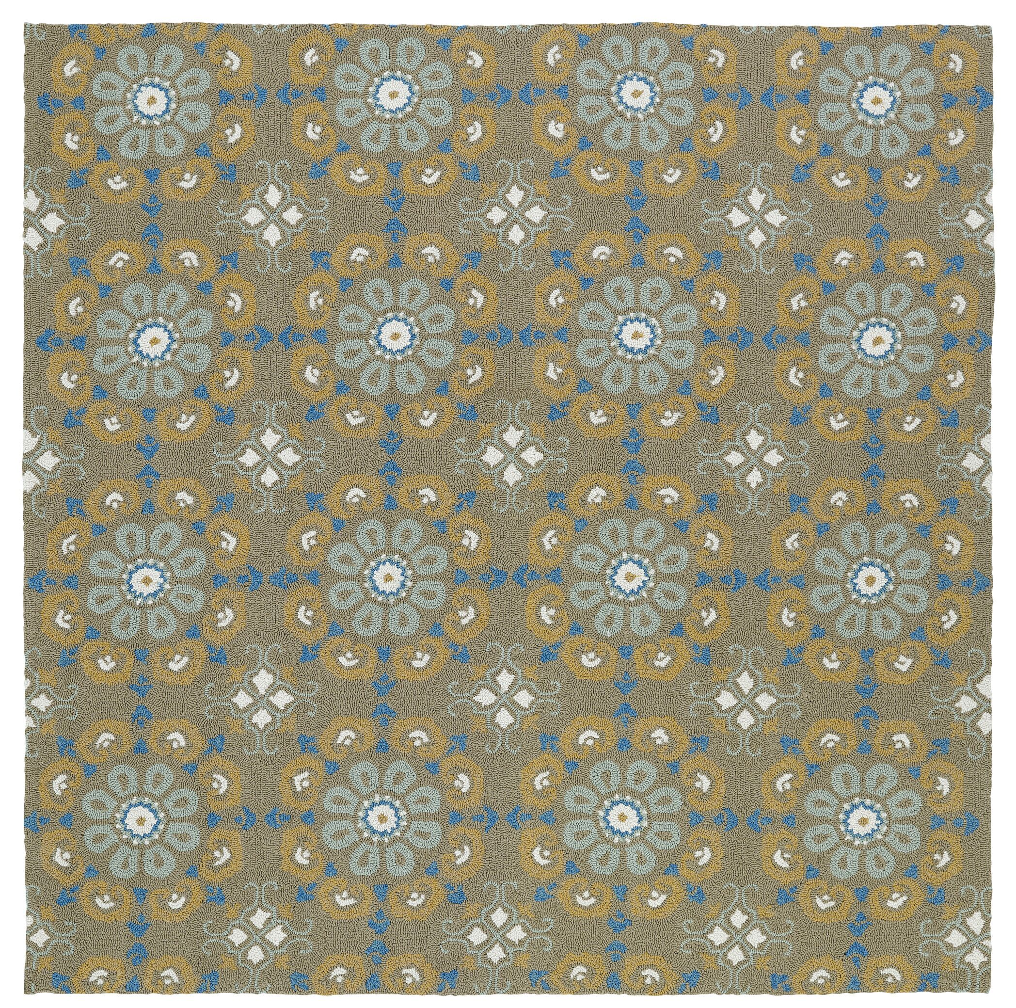 Cavour Handmade Brown Indoor / Outdoor Brown Area Rug Rug Size: Square 5'9