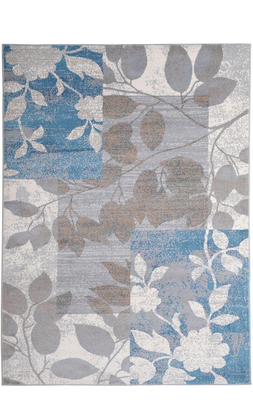 Albion Beige/Blue Area Rug Rug Size: 7'10