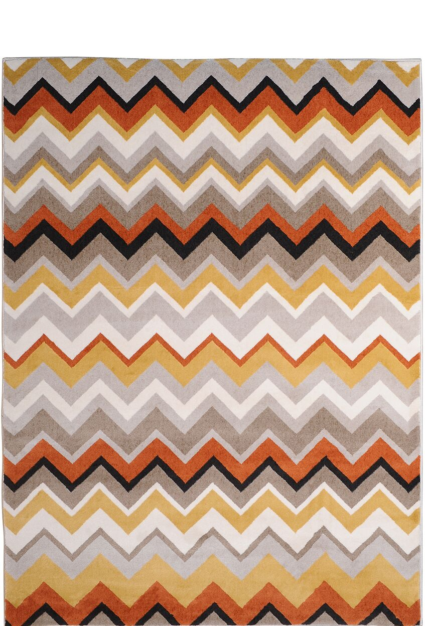 Dariell Orange Area Rug Rug Size: Rectangle 7'10
