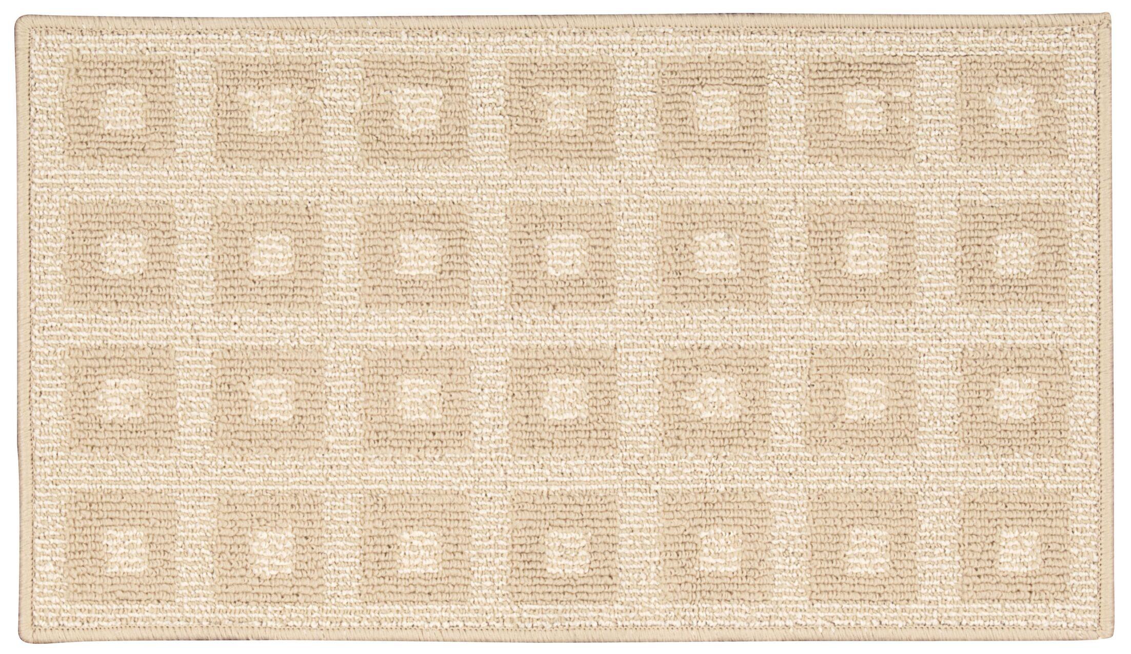 Seema Geometric Cream Area Rug Rug Size: Rectangle 1'8