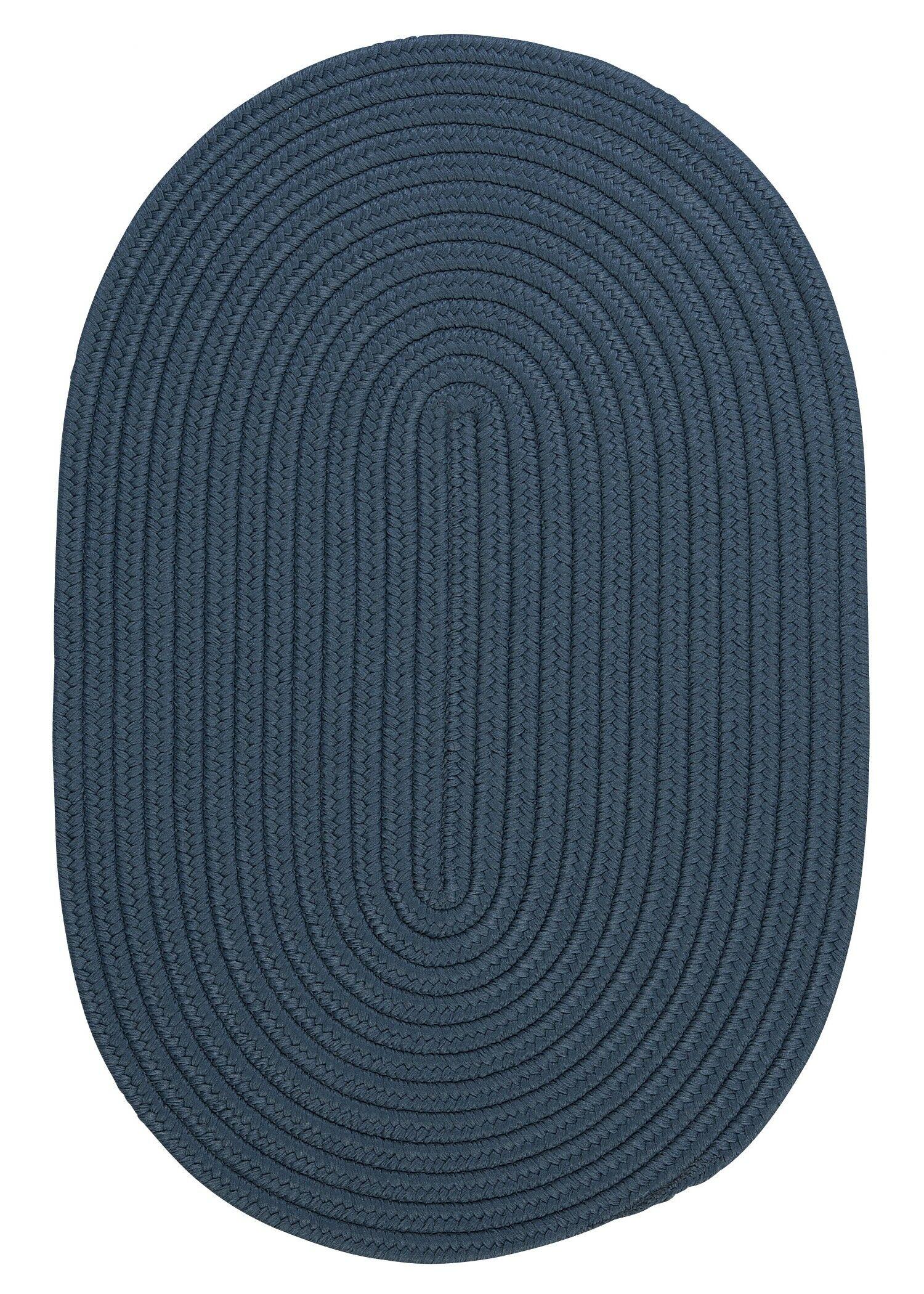 Mcintyre Blue Indoor/Outdoor Area Rug Rug Size: Oval 8' x 11'