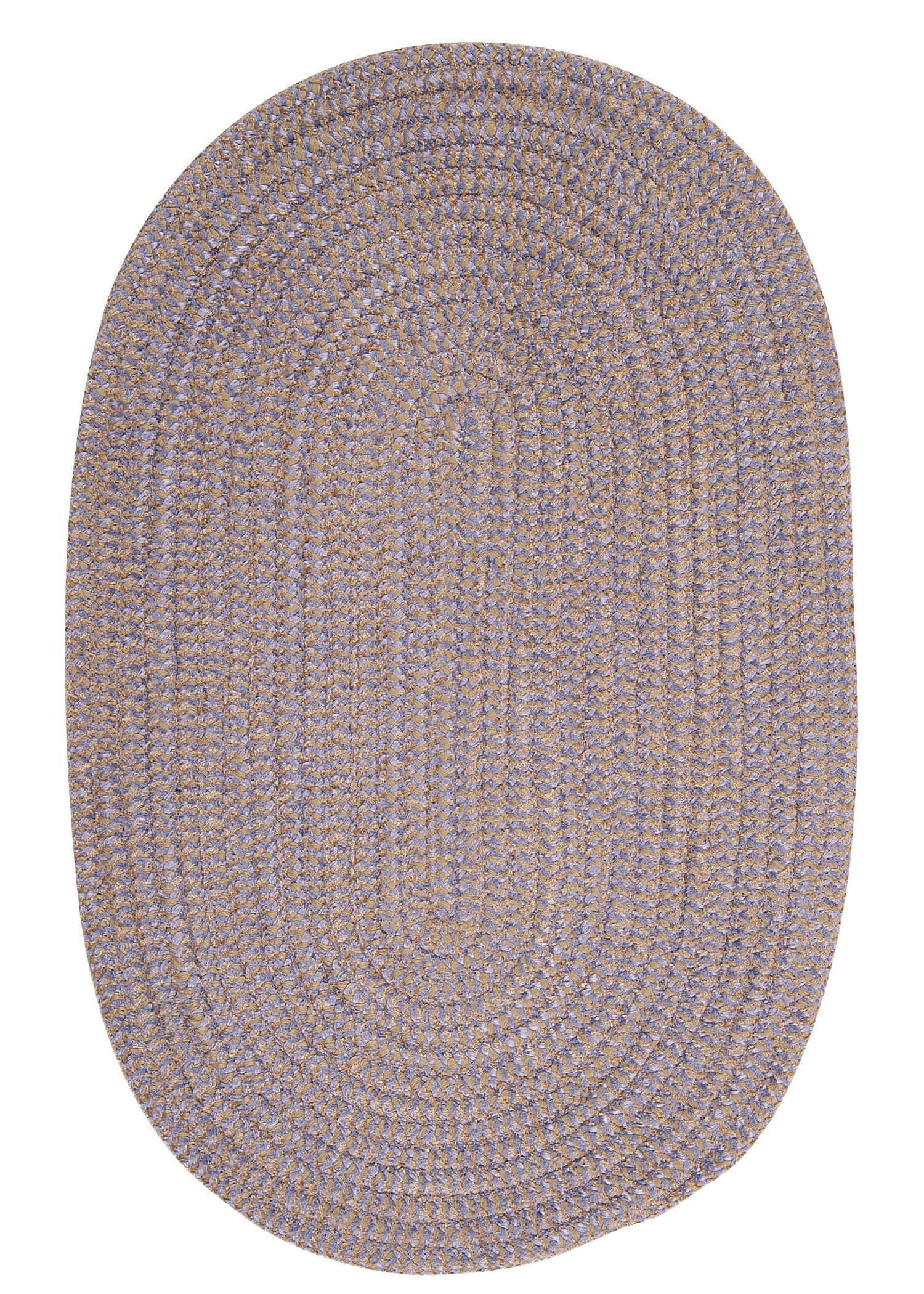 Hale Amethyst Check Indoor/Outdoor Area Rug Rug Size: Oval 3' x 5'
