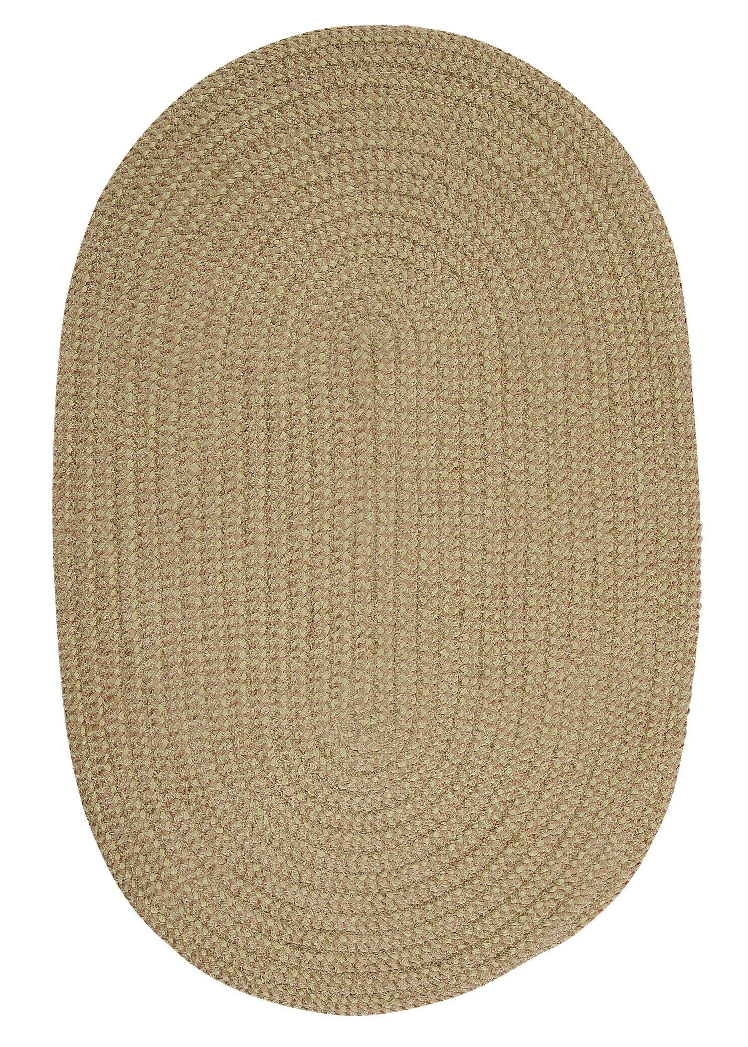 Hale Celery Check Indoor/Outdoor Area Rug Rug Size: Oval Runner 2' x 12'
