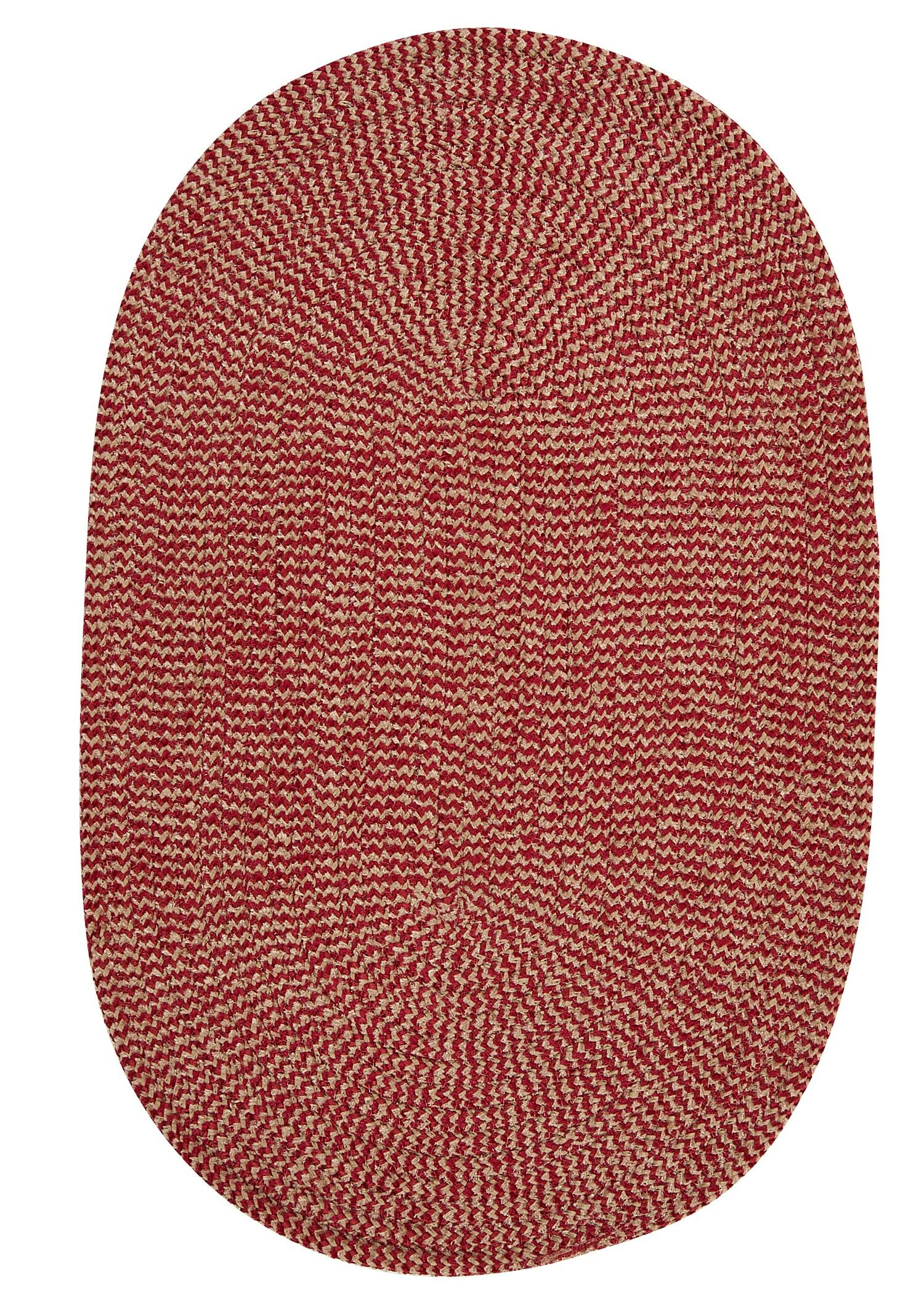 Hale Sangria Check Indoor/Outdoor Area Rug Rug Size: Oval 4' x 6'