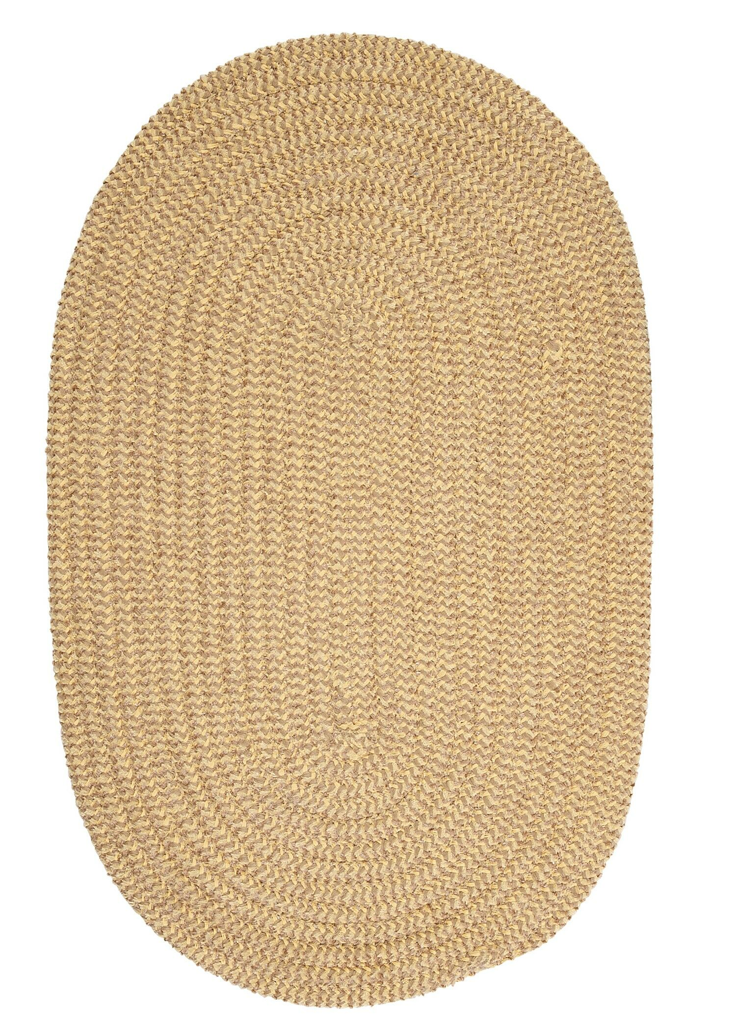 Hale Pale Banana Check Indoor/Outdoor Area Rug Rug Size: Oval 2' x 4'