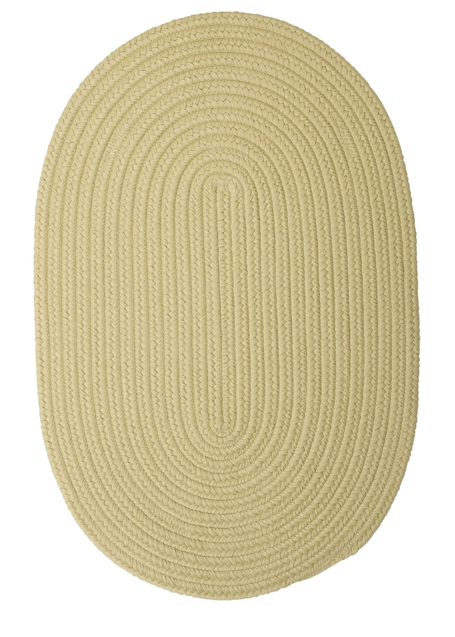 Mcintyre Celery Outdoor Area Rug Rug Size: Oval 12' x 15'