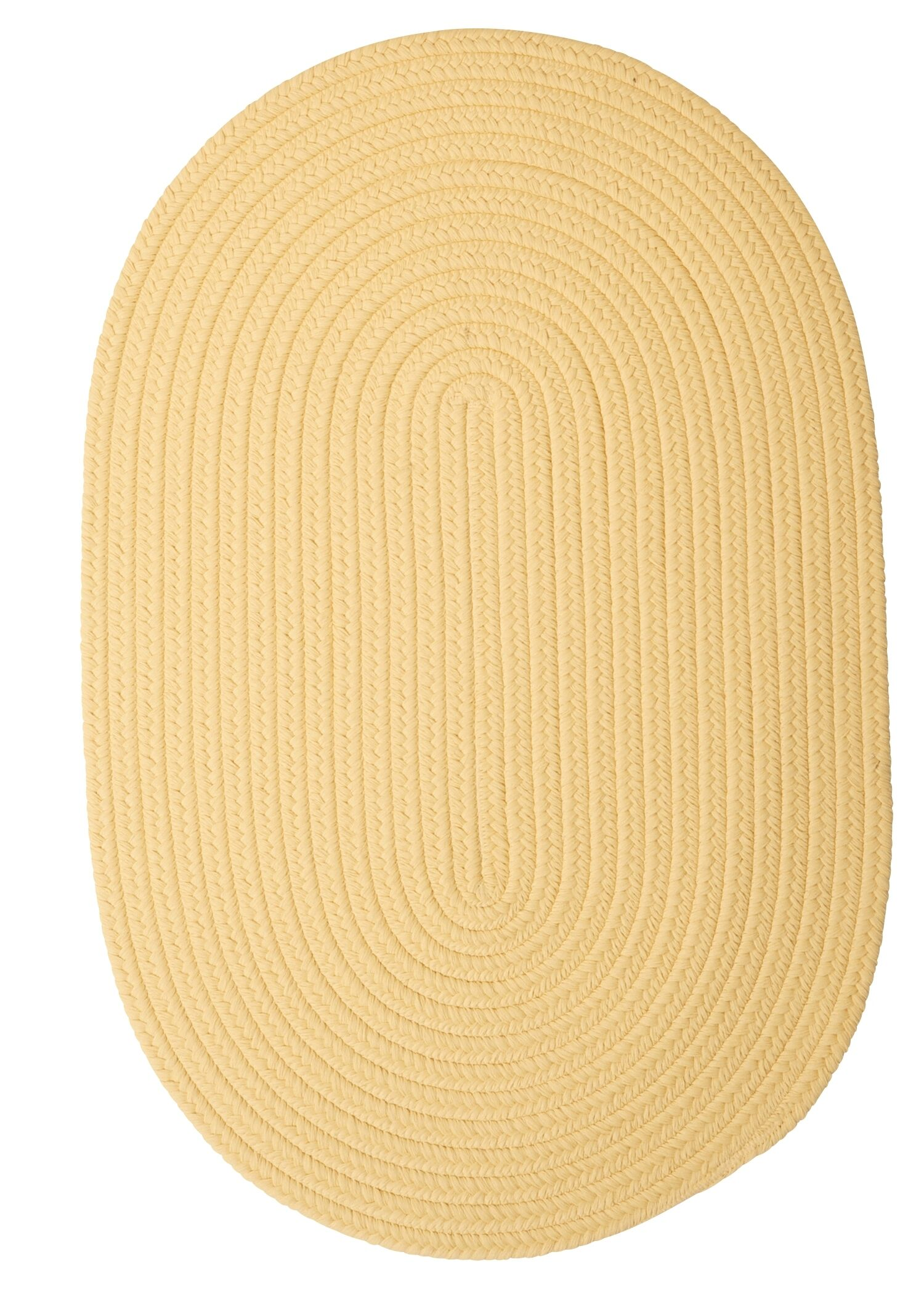 Mcintyre Pale Banana Outdoor Area Rug Rug Size: Oval 8' x 11'