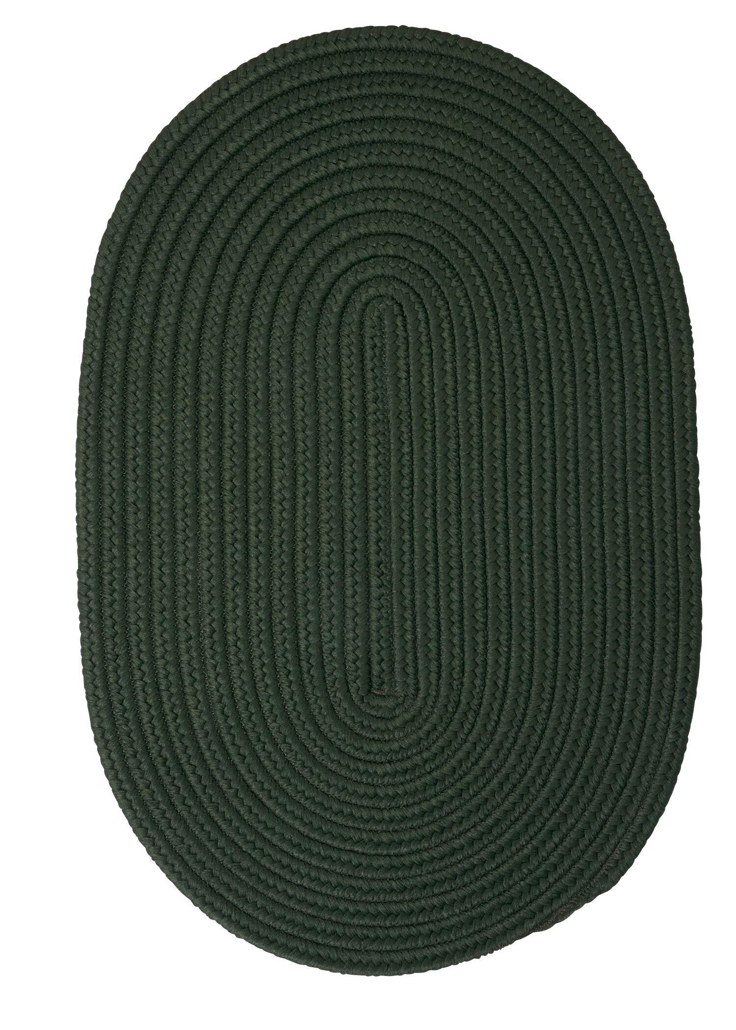 Mcintyre Dark Green Outdoor Area Rug Rug Size: Oval 8' x 11'