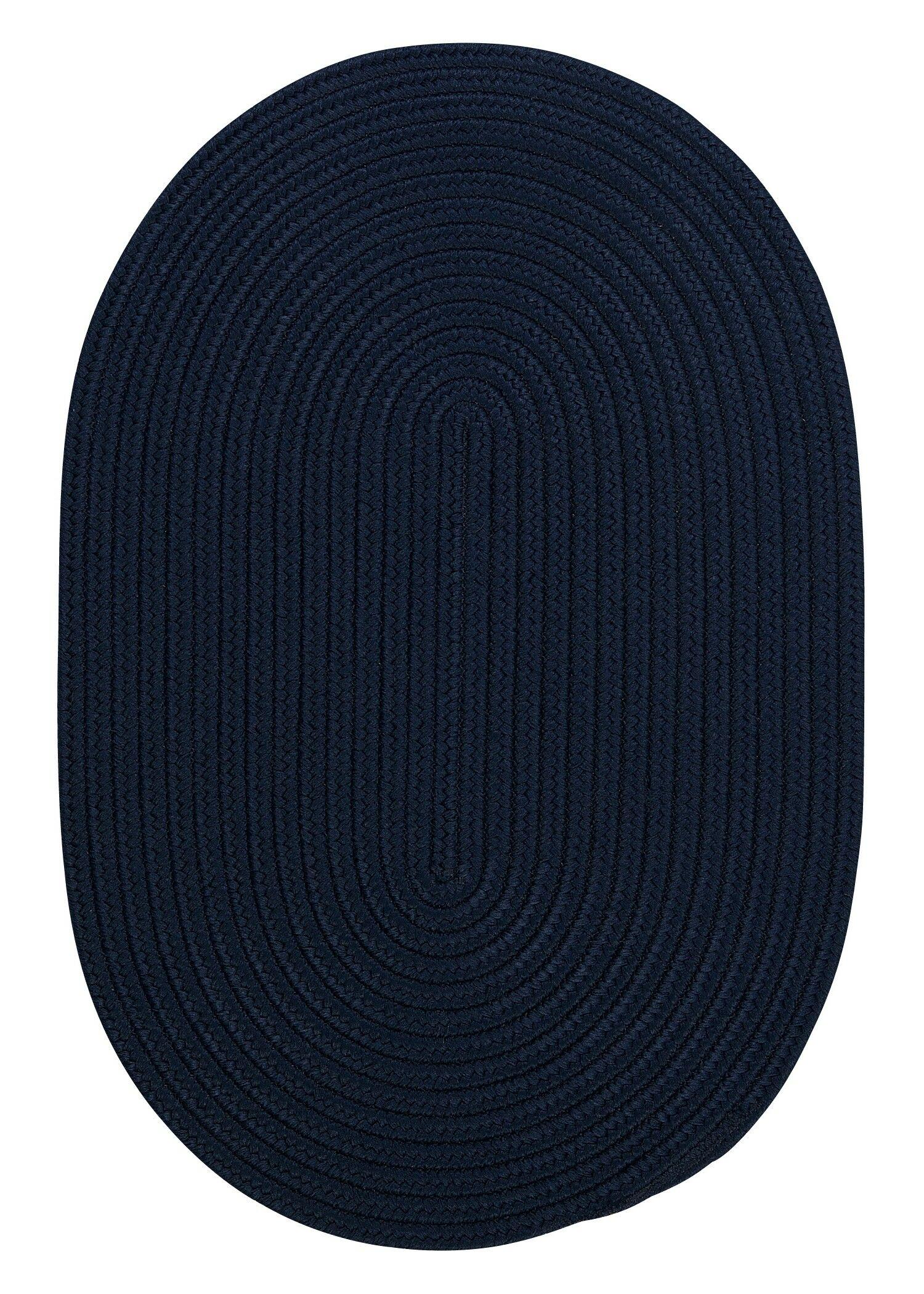Mcintyre Navy Indoor/Outdoor Area Rug Rug Size: Oval 8' x 11'