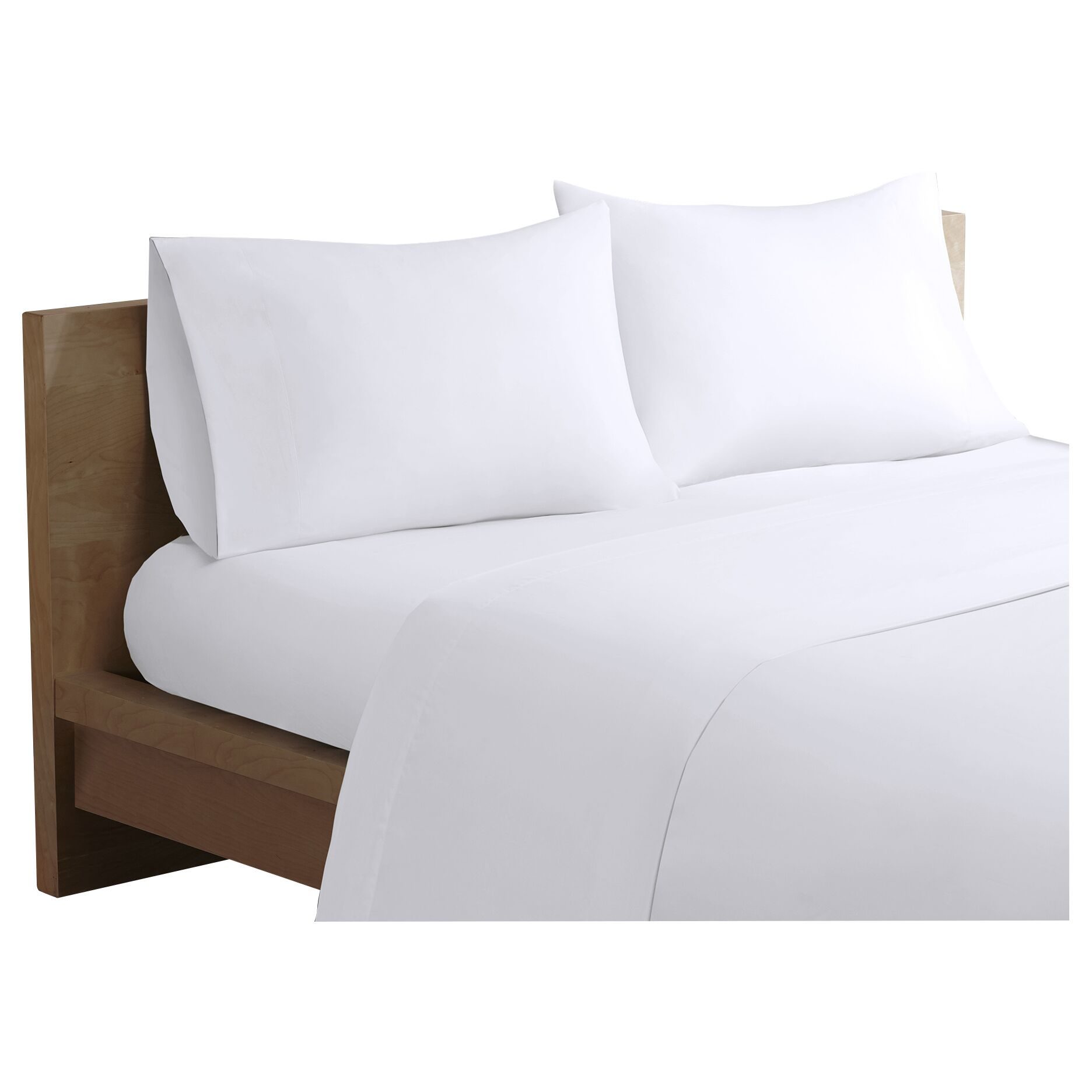 Bridget Forever Percale 200 Thread Count Cotton Sheet Set Color: White, Size: King