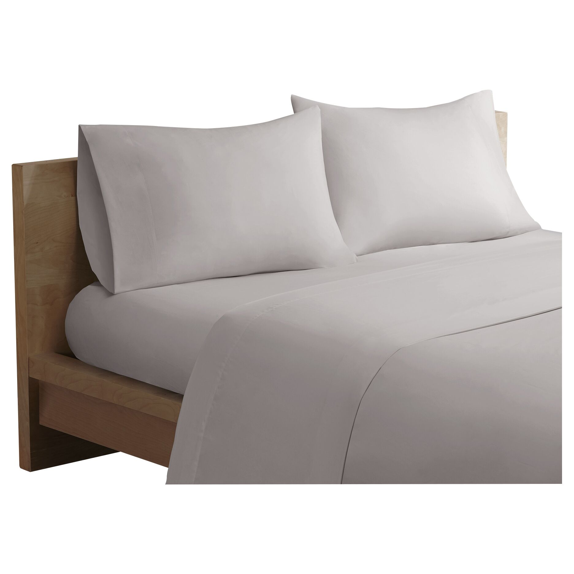 Bridget Forever Percale 200 Thread Count Cotton Sheet Set Size: California King, Color: Grey