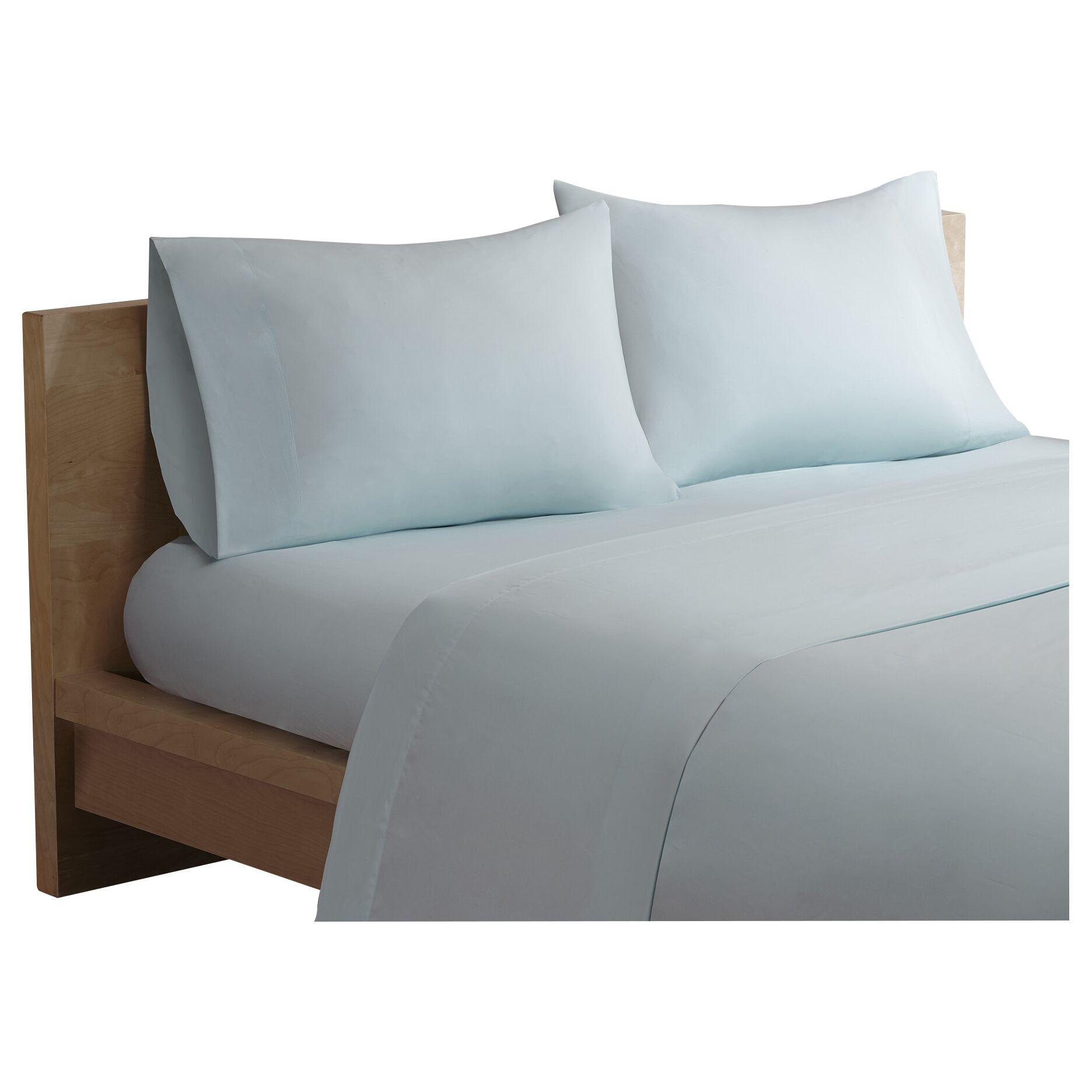 Bridget Forever Percale 200 Thread Count Cotton Sheet Set Size: California King, Color: Seafoam