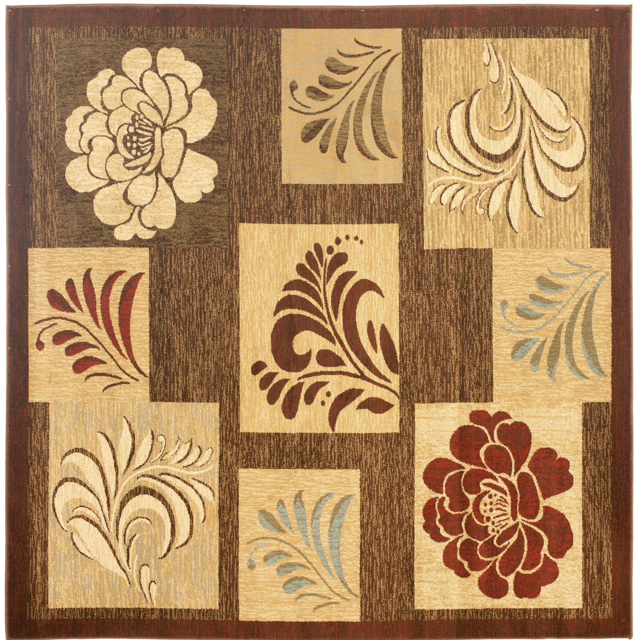 Southampton Brown Squared Area Rug Rug Size: Square 6'7