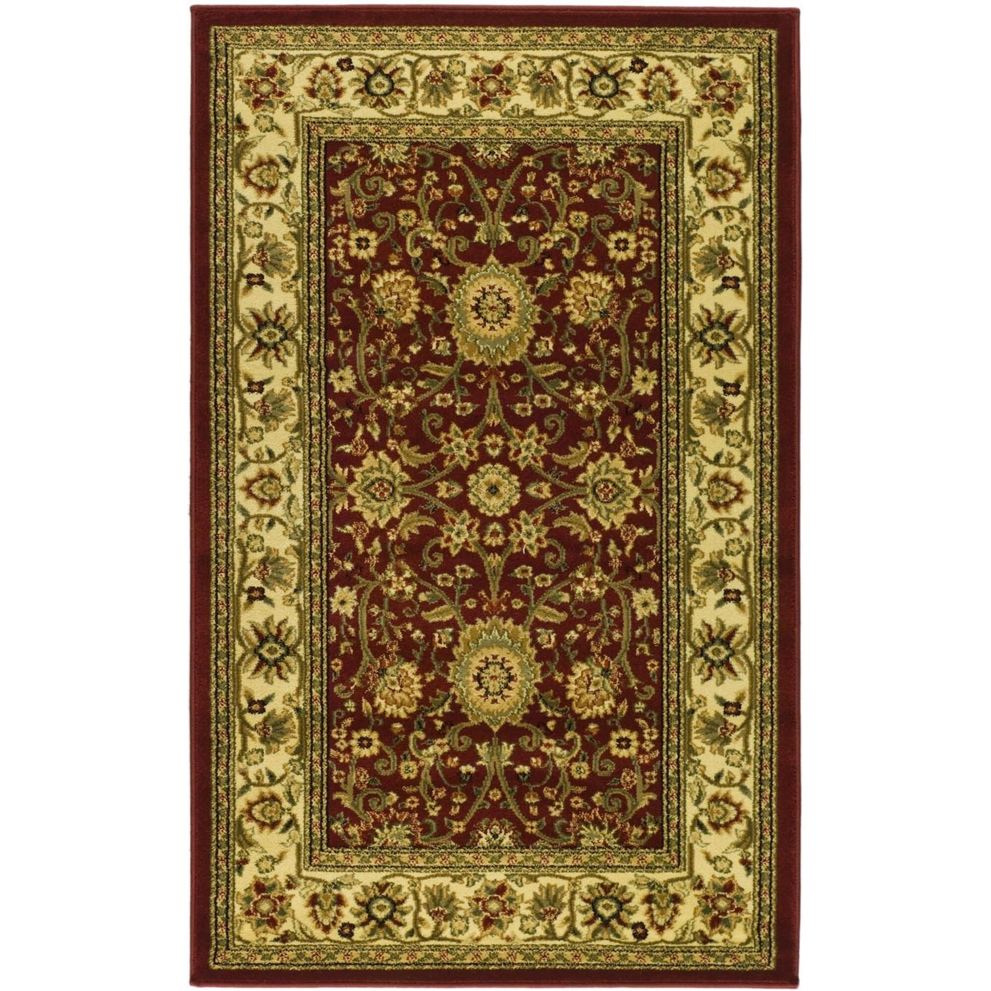 Ottis Red/Ivory Persian Area Rug Rug Size: Rectangle 4' x 6'