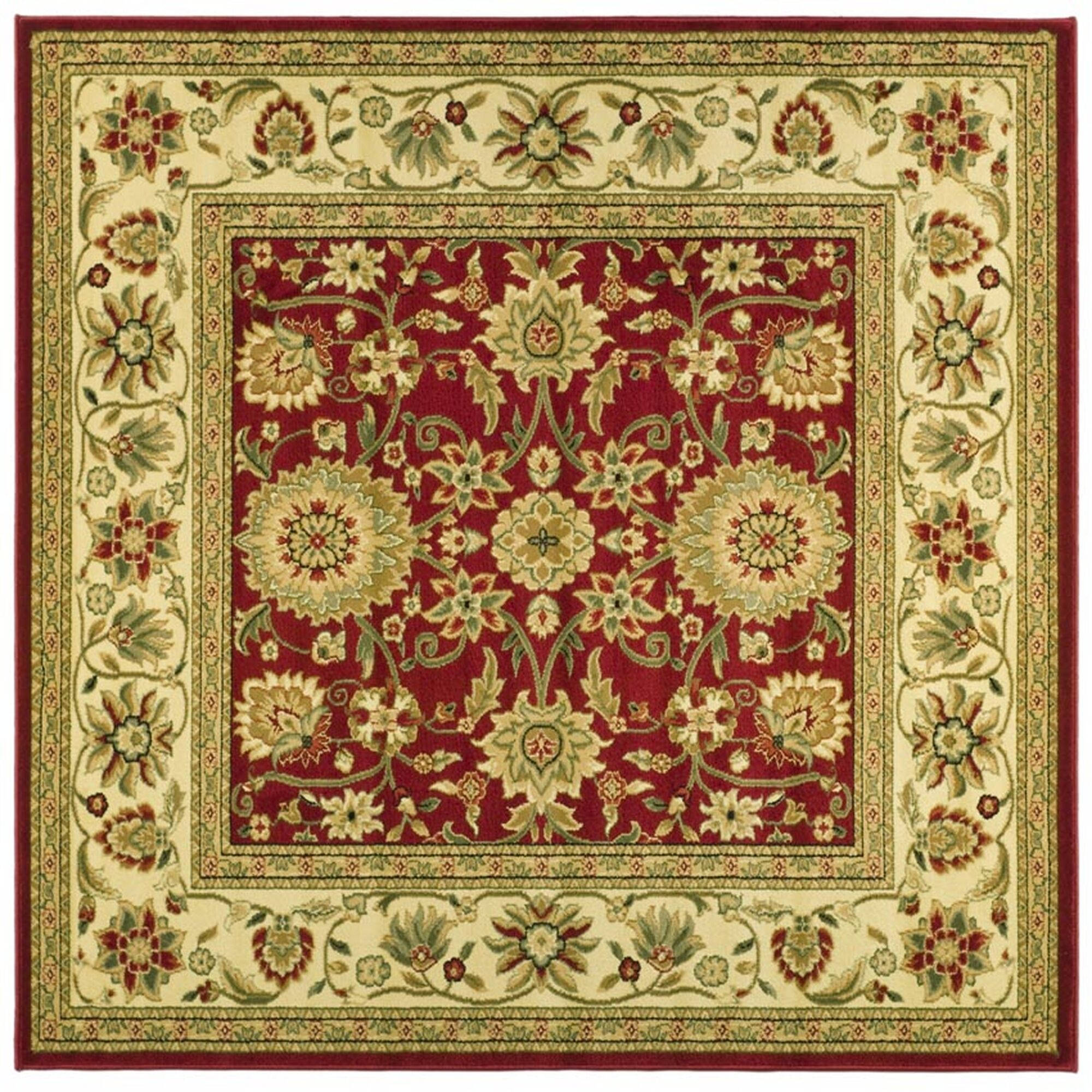 Ottis Red/Ivory Persian Area Rug Rug Size: Square 8'