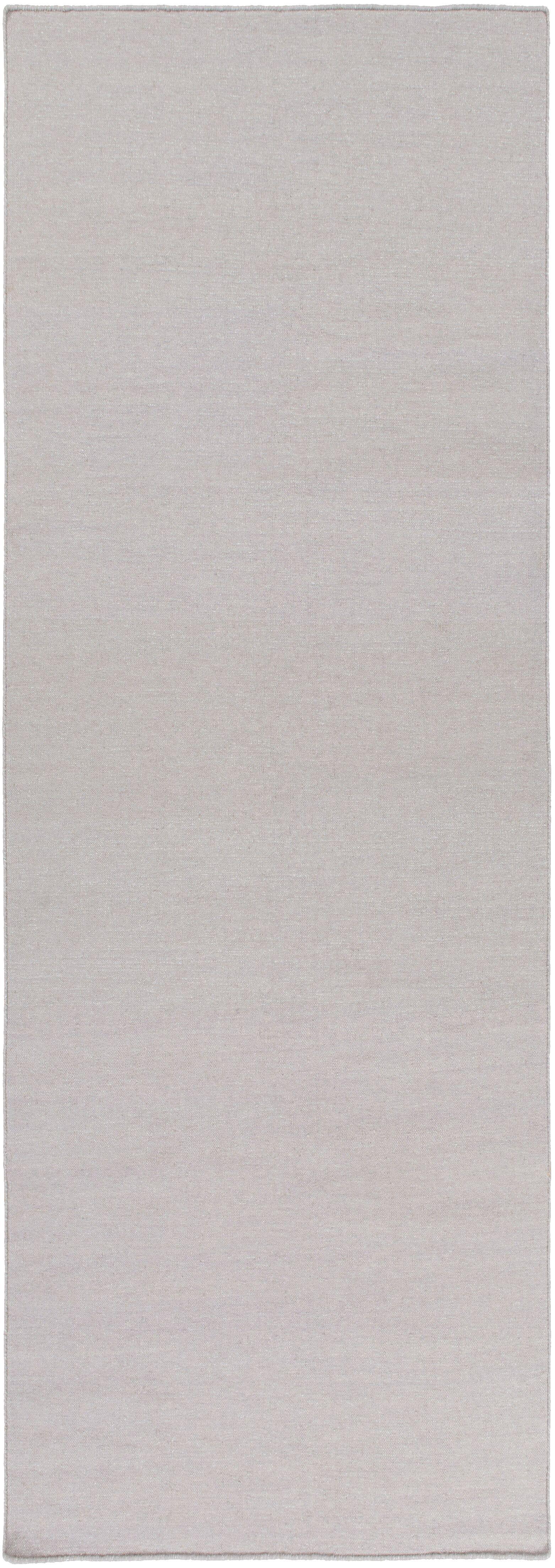 Aden Hand Woven Light Gray Area Rug Rug Size: Runner 2'6