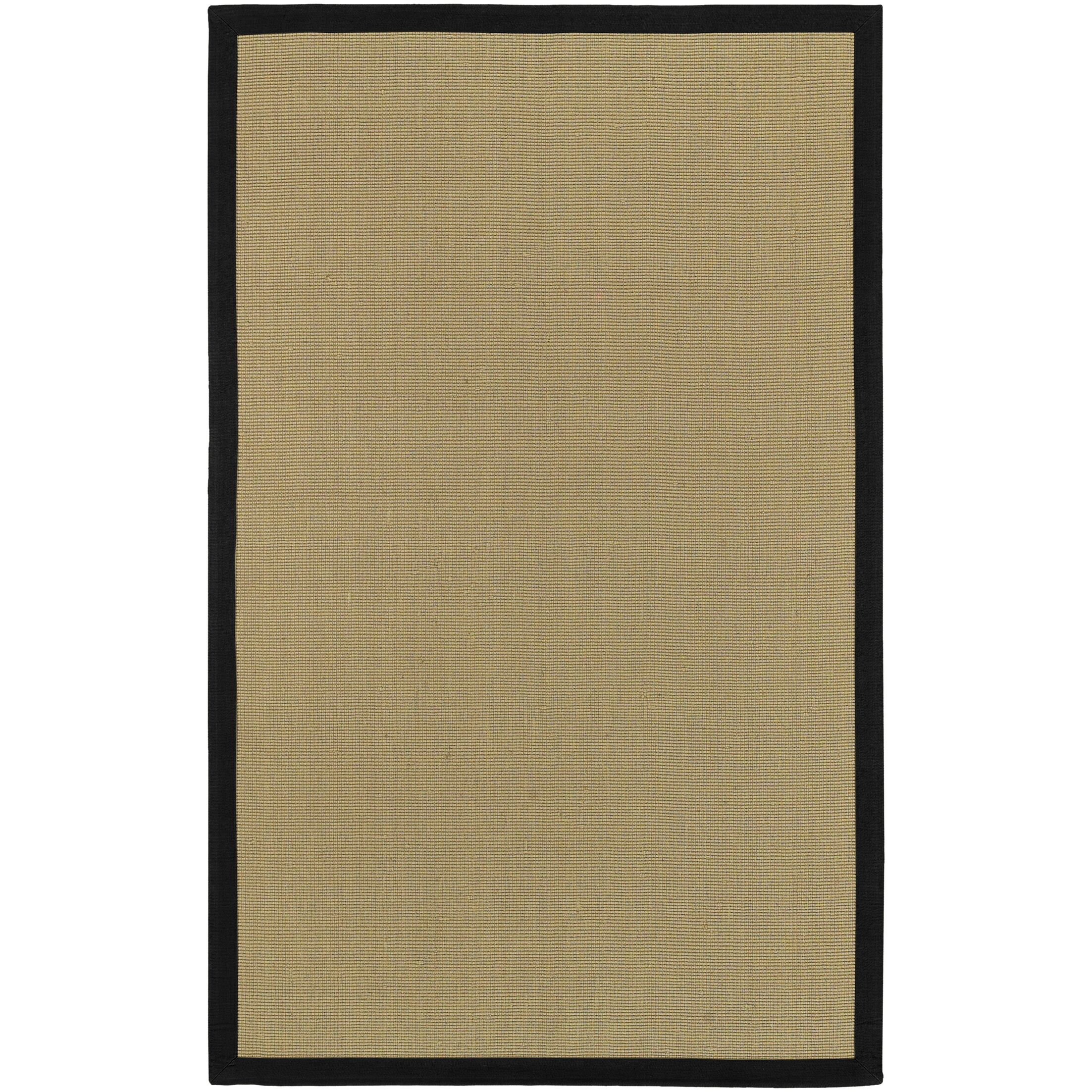 Sasha Hand-Woven Black Jute Area Rug Rug Size: Rectangle 5' x 8'