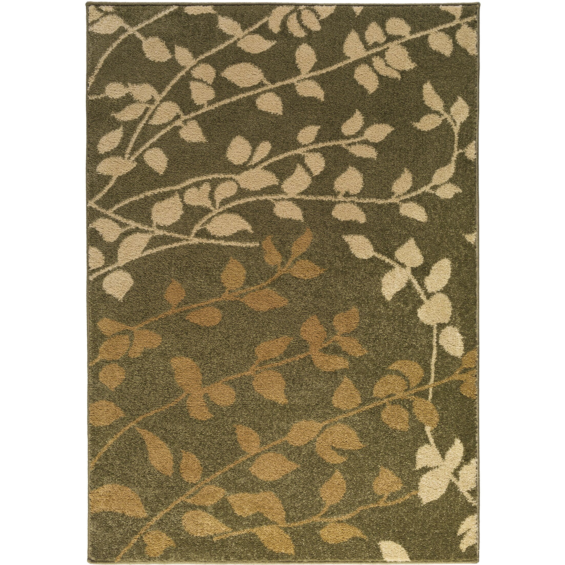 Demetria Floral and Plants Multi Area Rug Rug Size: Rectangle 5'2