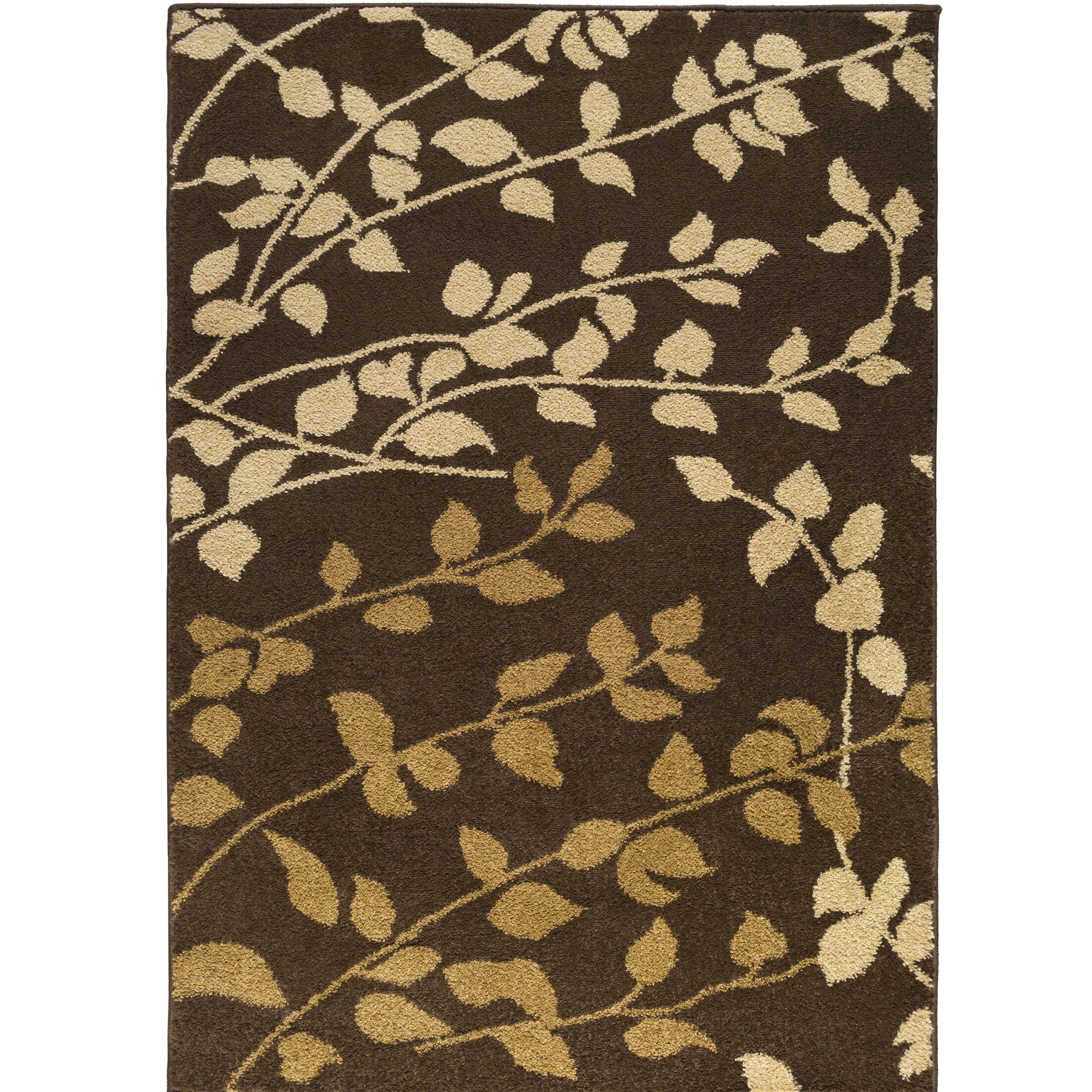 Demetria Carafe Brown/Dijon Area Rug Rug Size: Rectangle 7'6