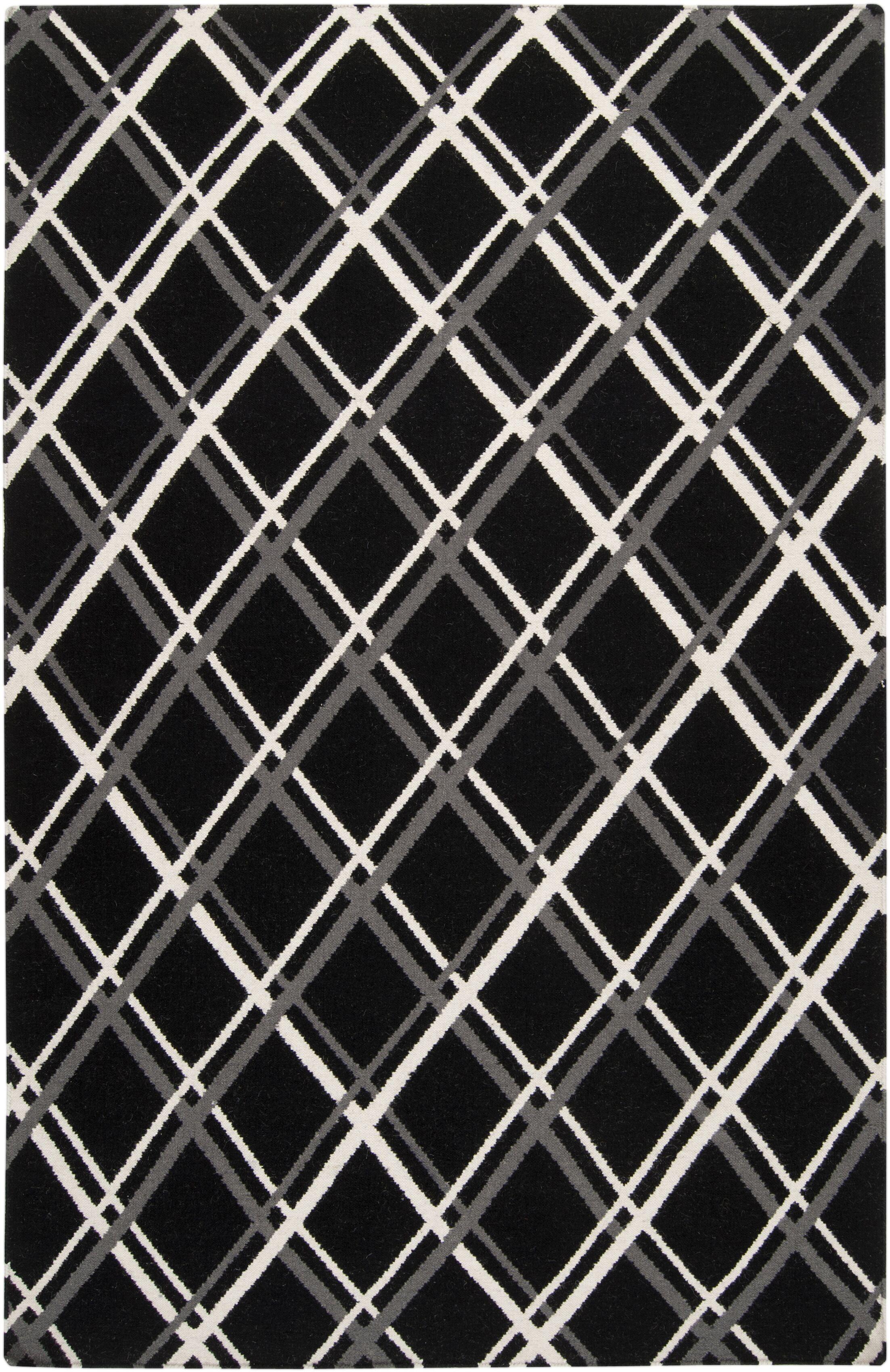 Ketner Black Area Rug Rug Size: Rectangle 5' x 8'