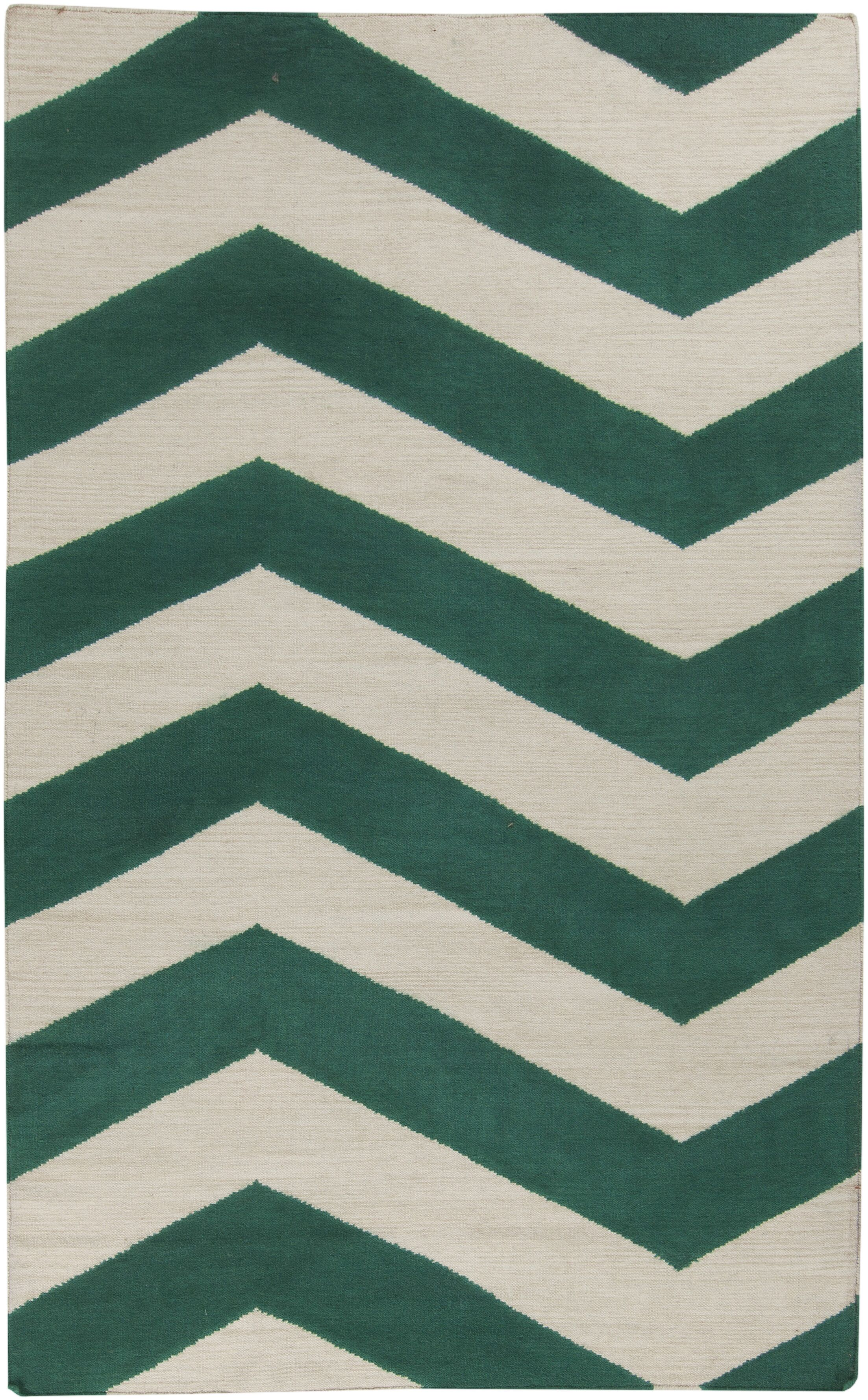 Lowery Juniper & Antique White Zig Zag Area Rug Rug Size: Rectangle 5' x 8'