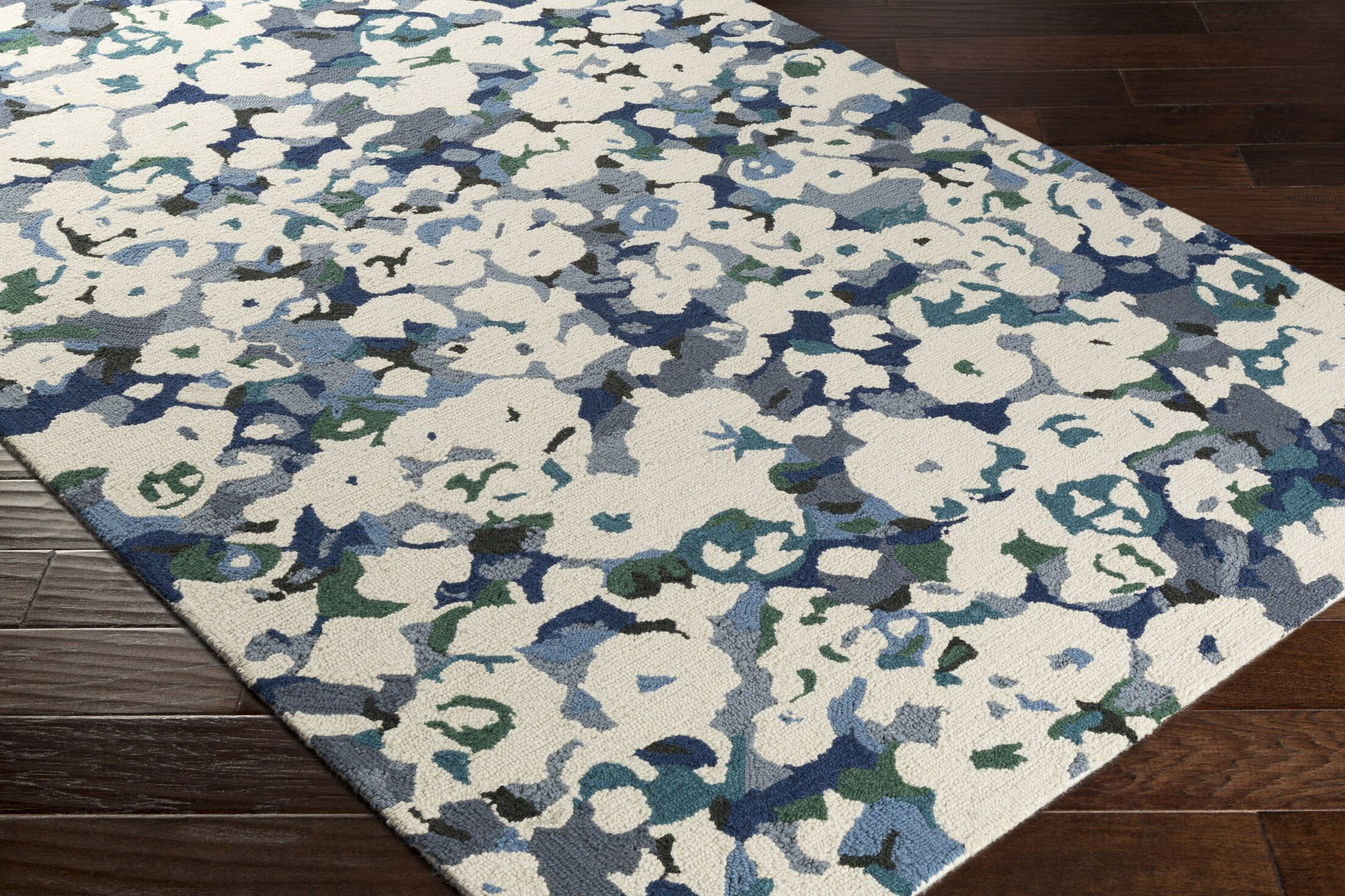 Amanda Hand-Tufted Beige/Gray Area Rug Rug Size: Rectangle 8' x 10'