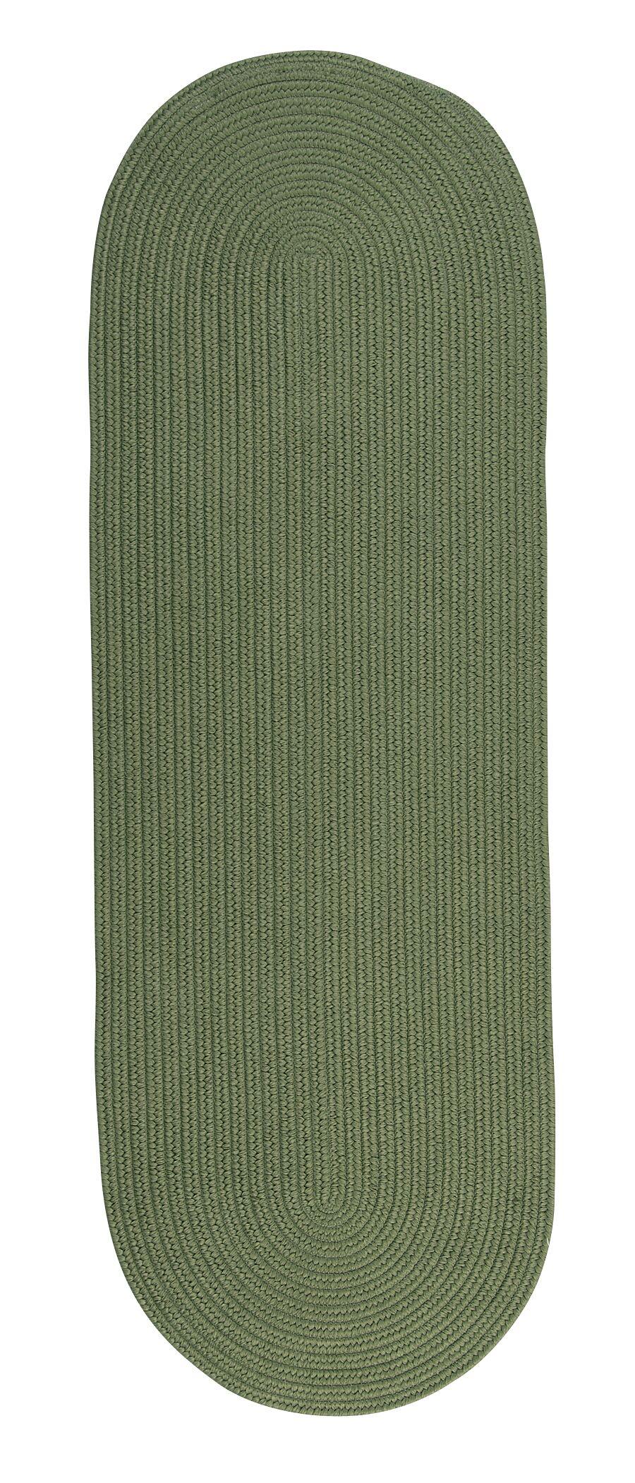 Mcintyre Moss Green Indoor/Outdoor Area Rug Rug Size: Oval Runner 2' x 12'